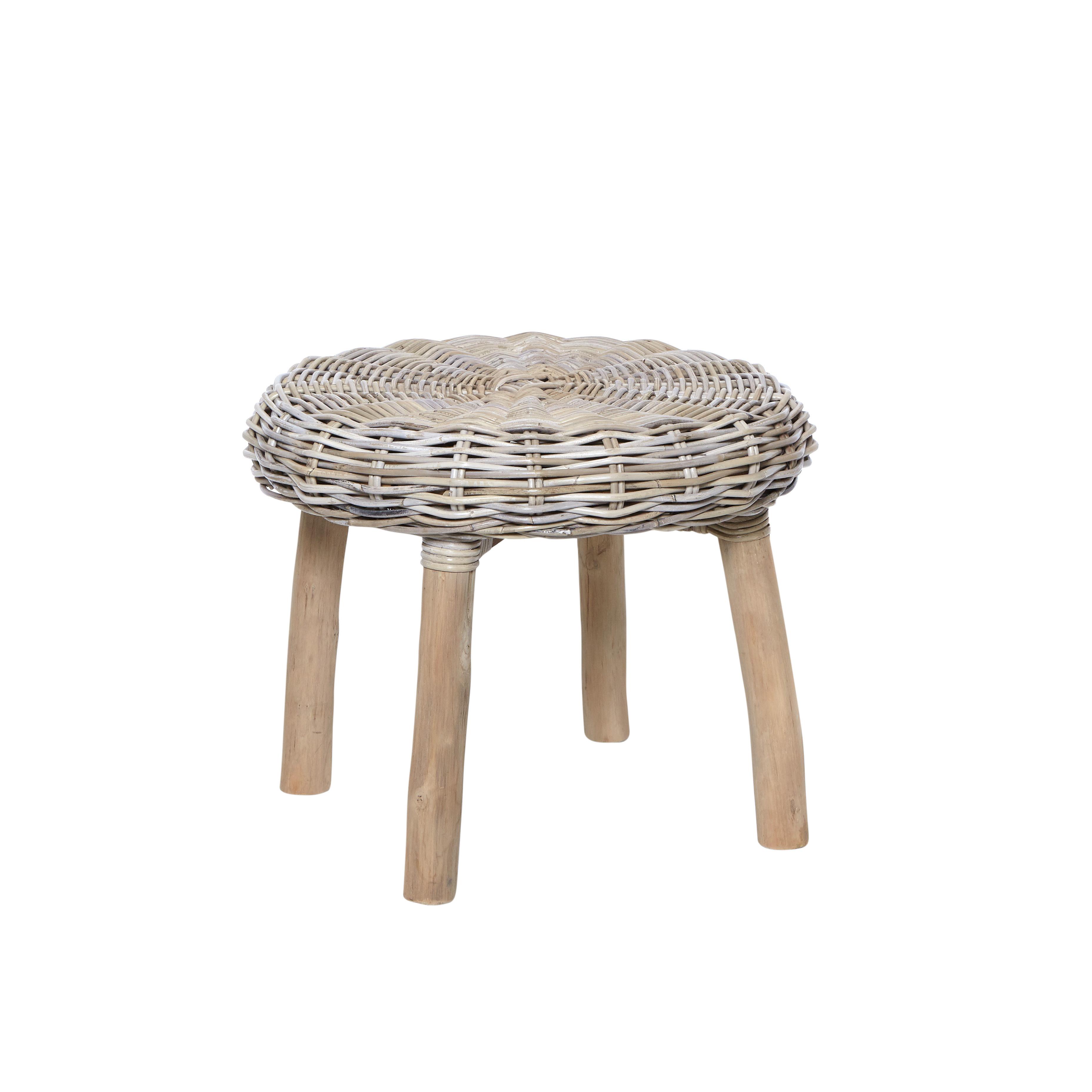 Tavolino rattan intrecciato Bungalow, Nero, large image number 0
