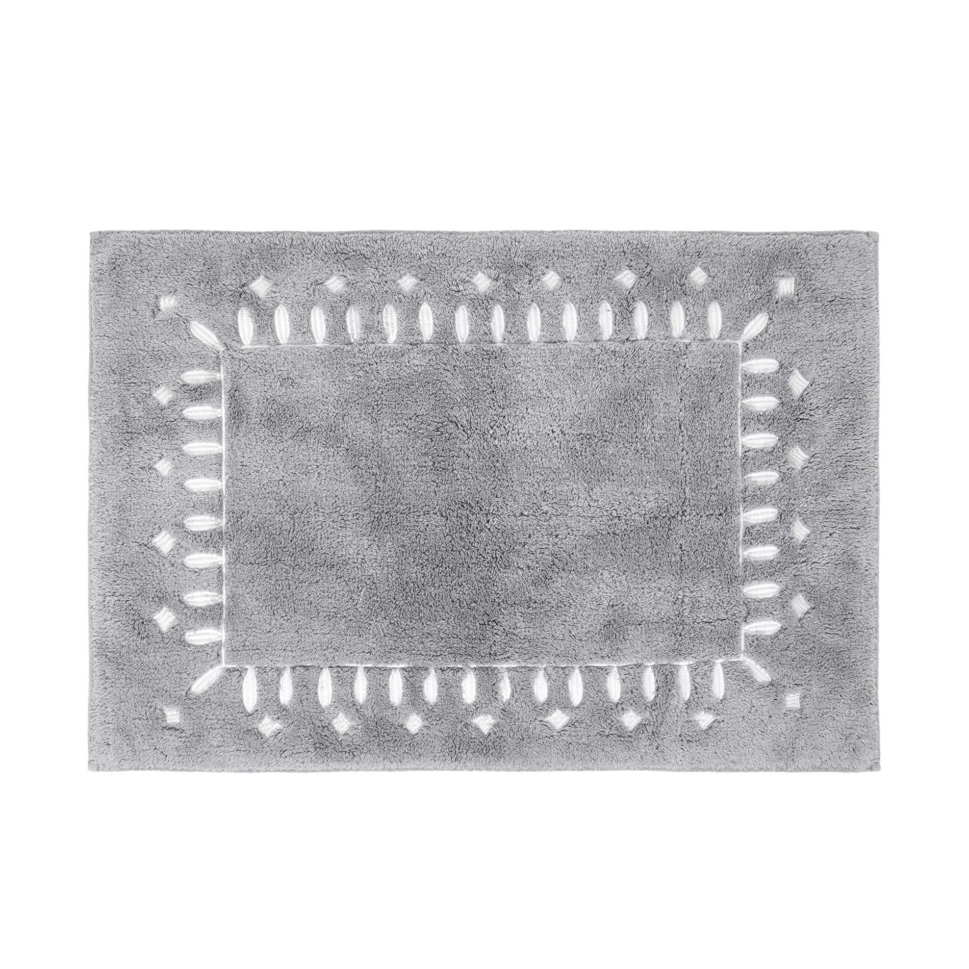 Tappeto bagno puro cotone, Grigio, large image number 0