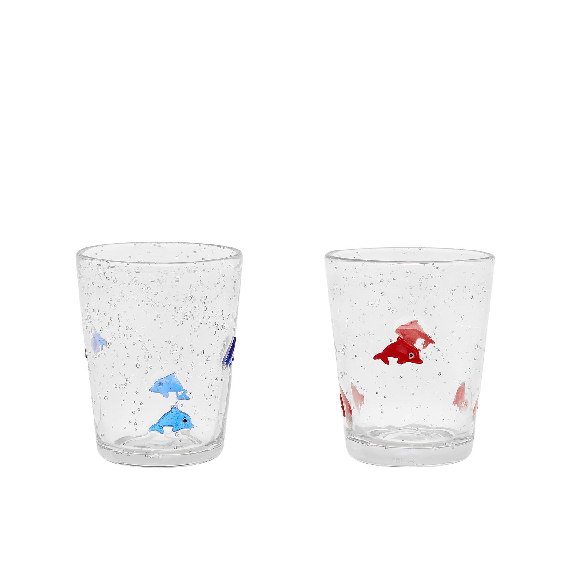 Bicchiere vetro decoro murrine, Trasparente, large image number 0