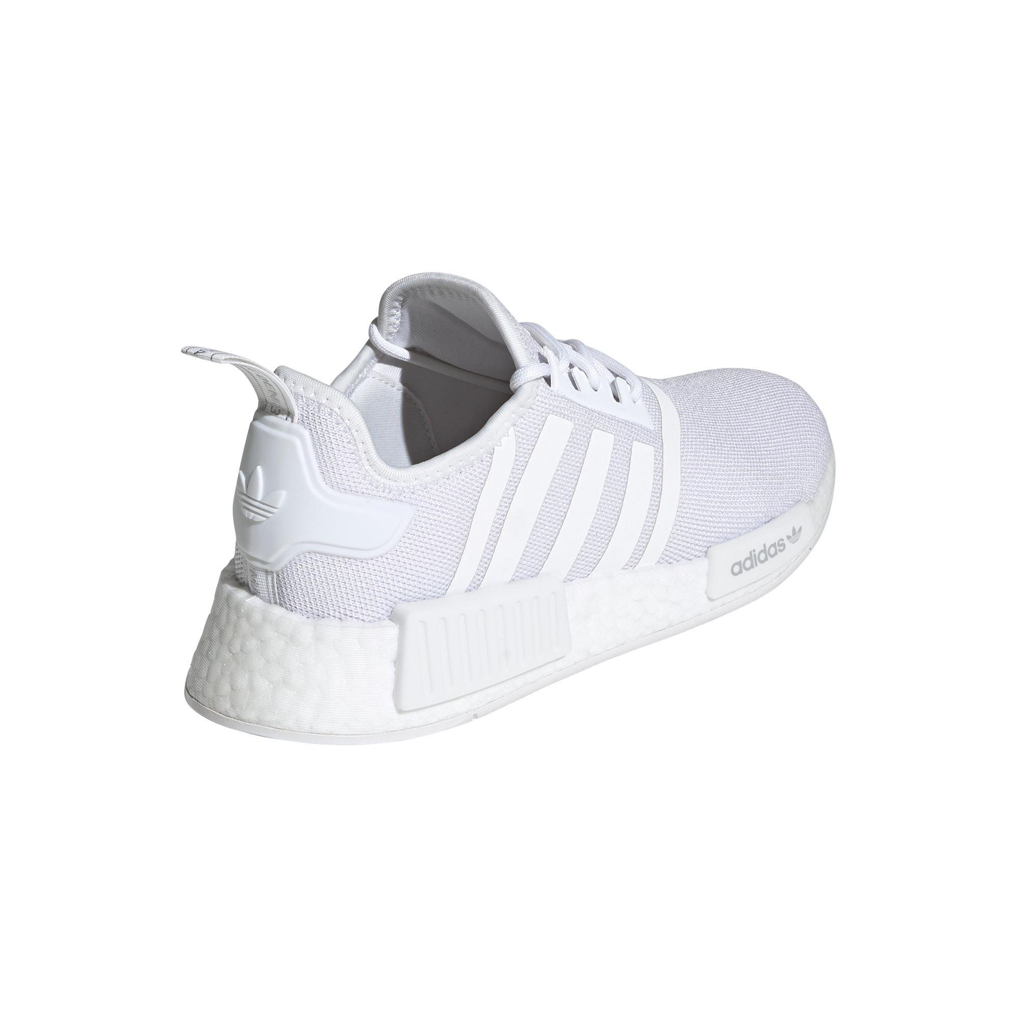 Scarpe donna Adidas Originals NMD_R1 Primeblue, Bianco/Grigio, large image number 10