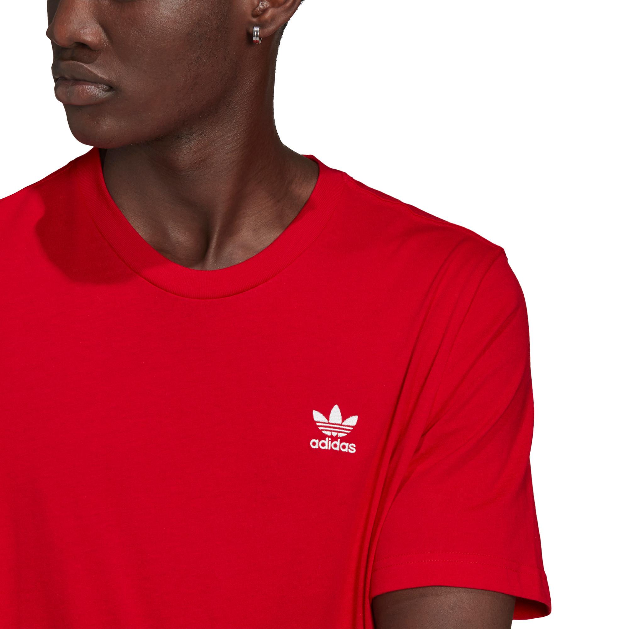 T-shirt loungewear adicolor trefoil essentials, Rosso, large image number 4