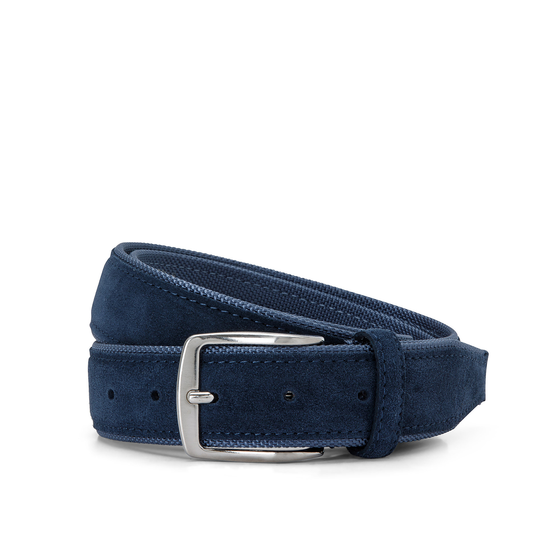 Cintura misto pelle Luca D'Altieri, Blu scuro, large image number 0