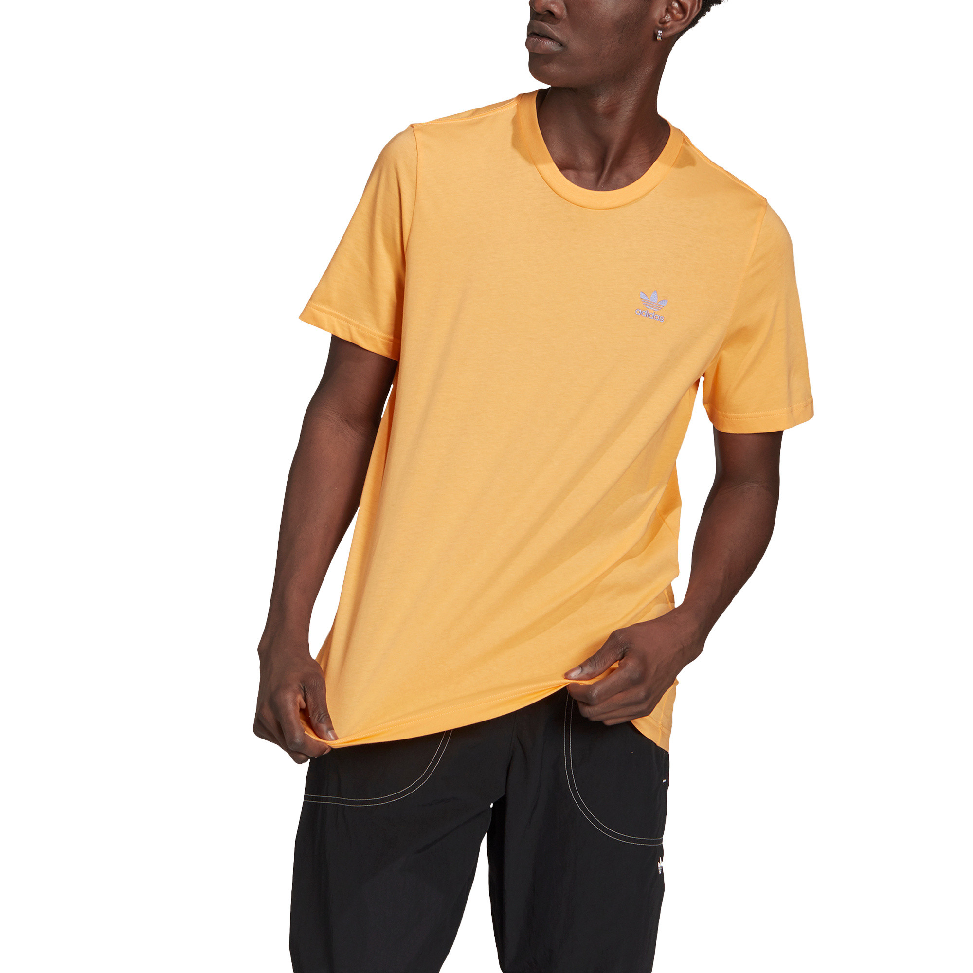 T-shirt loungewear adicolor trefoil essentials, Arancione, large image number 4