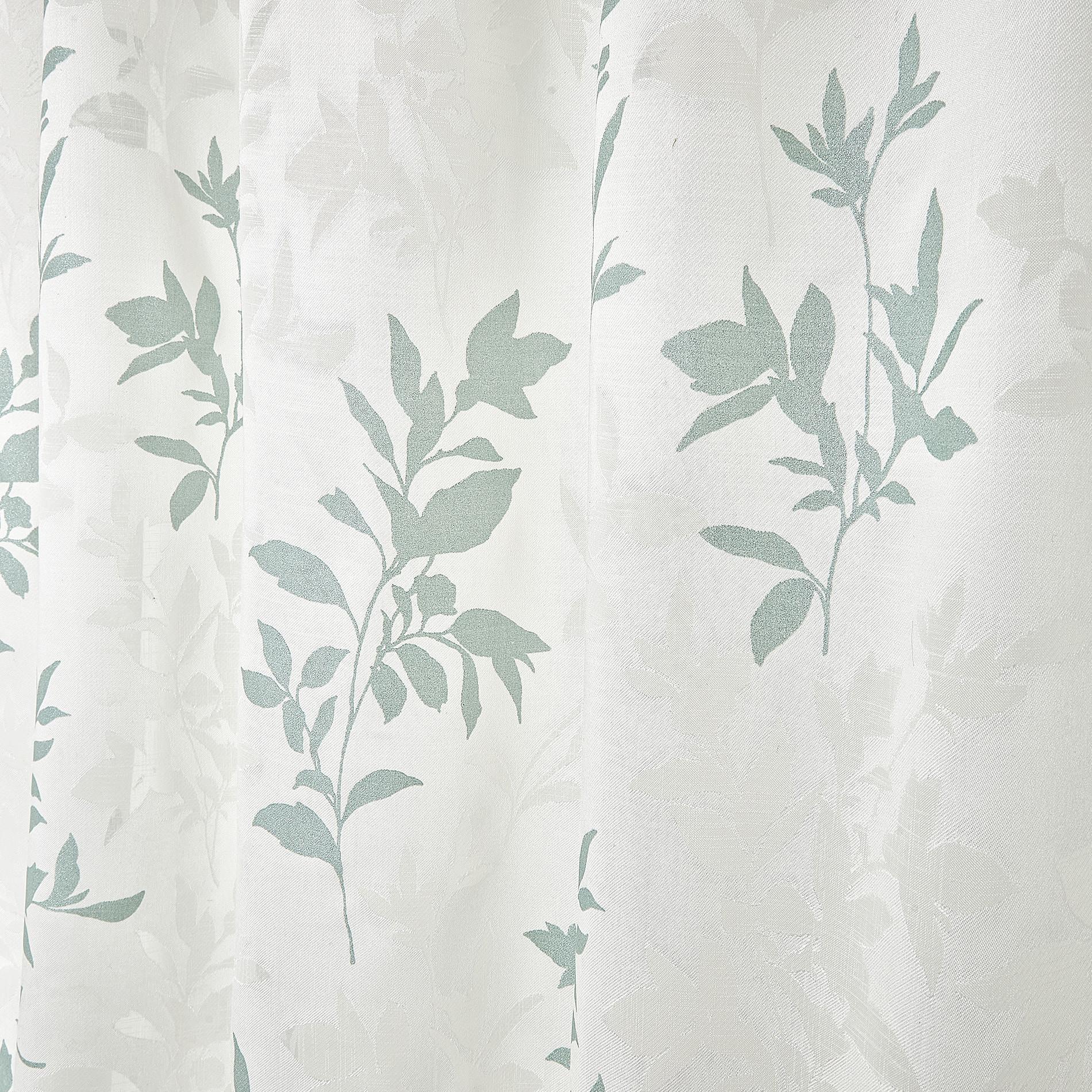 Tenda tessuto devore floreale con laccetti, Beige chiaro, large image number 3