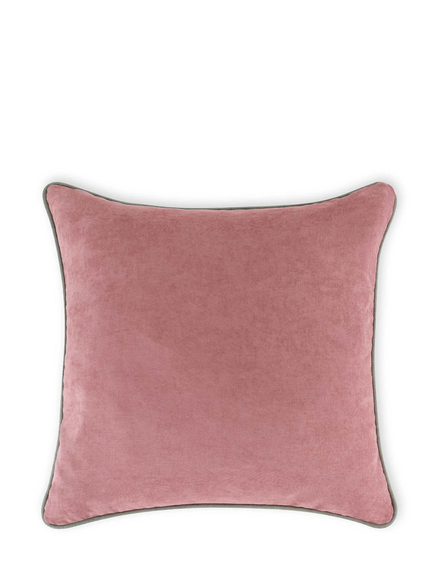 Cuscino tessuto effetto mélange 50x50cm, Rosa, large image number 1
