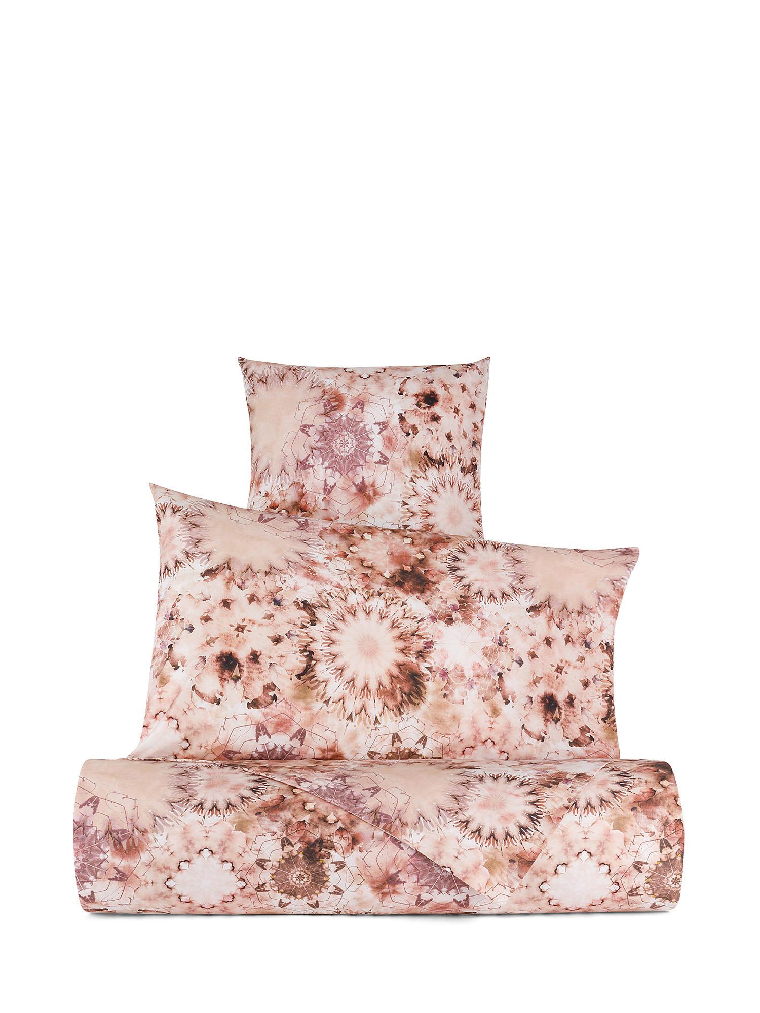 Federa cotone percalle fantasia floreale, Rosa, large image number 1