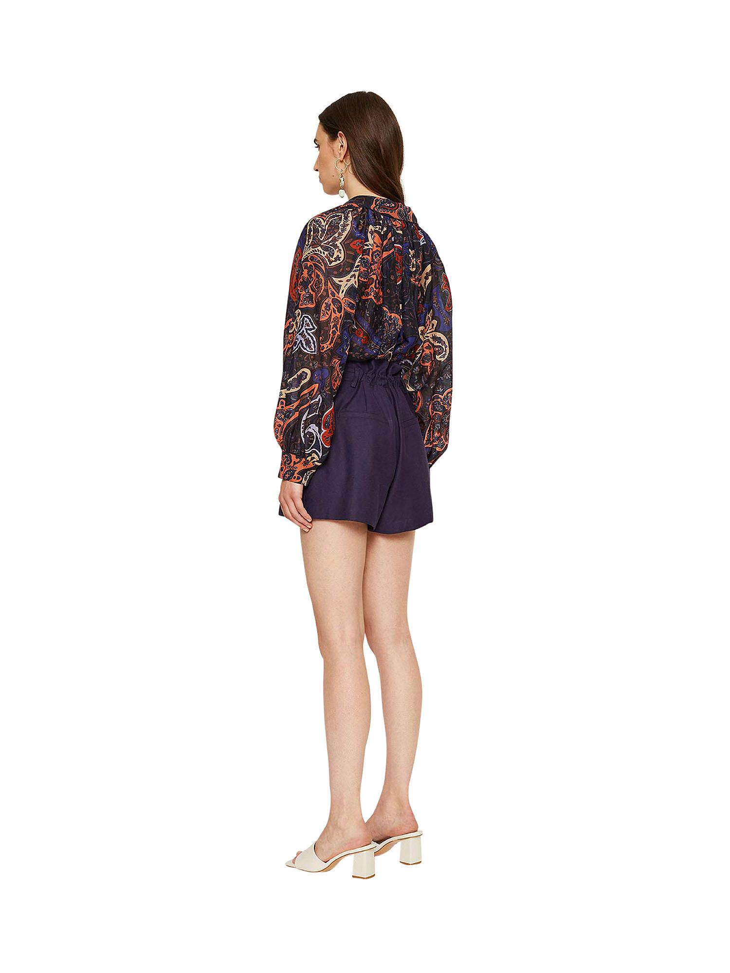 Shorts in shantung Ginger, Viola lilla, large image number 5