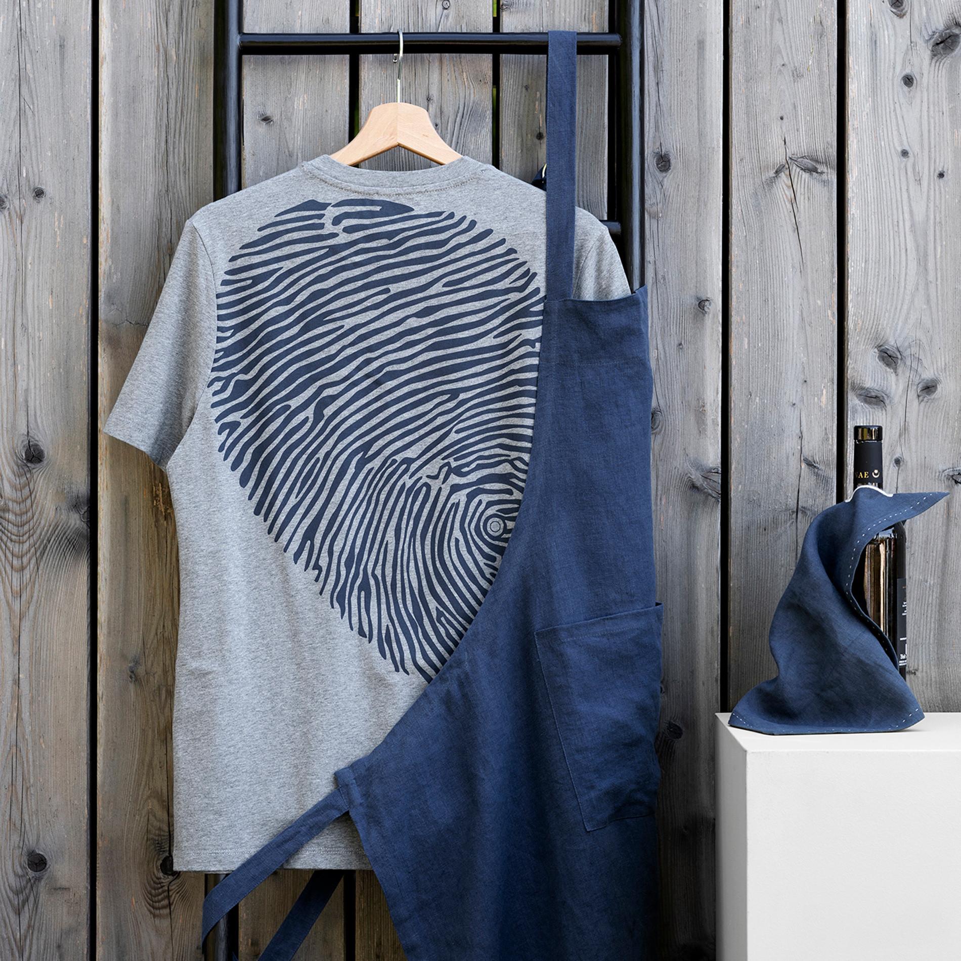 Tshirt puro cotone Davide Oldani for Coincasa, Grigio chiaro melange, large image number 0