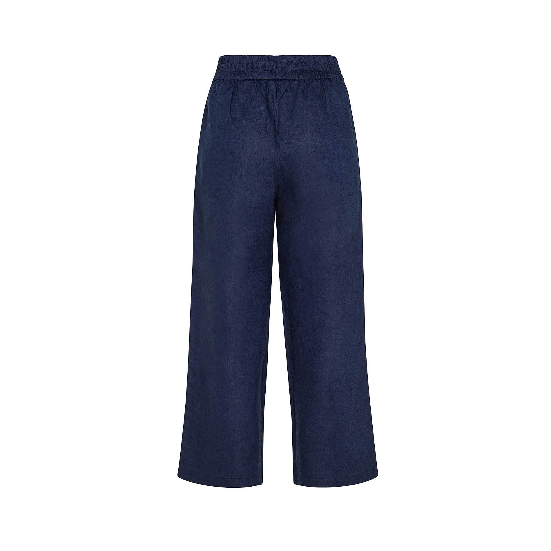 Pantalone puro lino con fusciacca Koan, Blu scuro, large image number 0