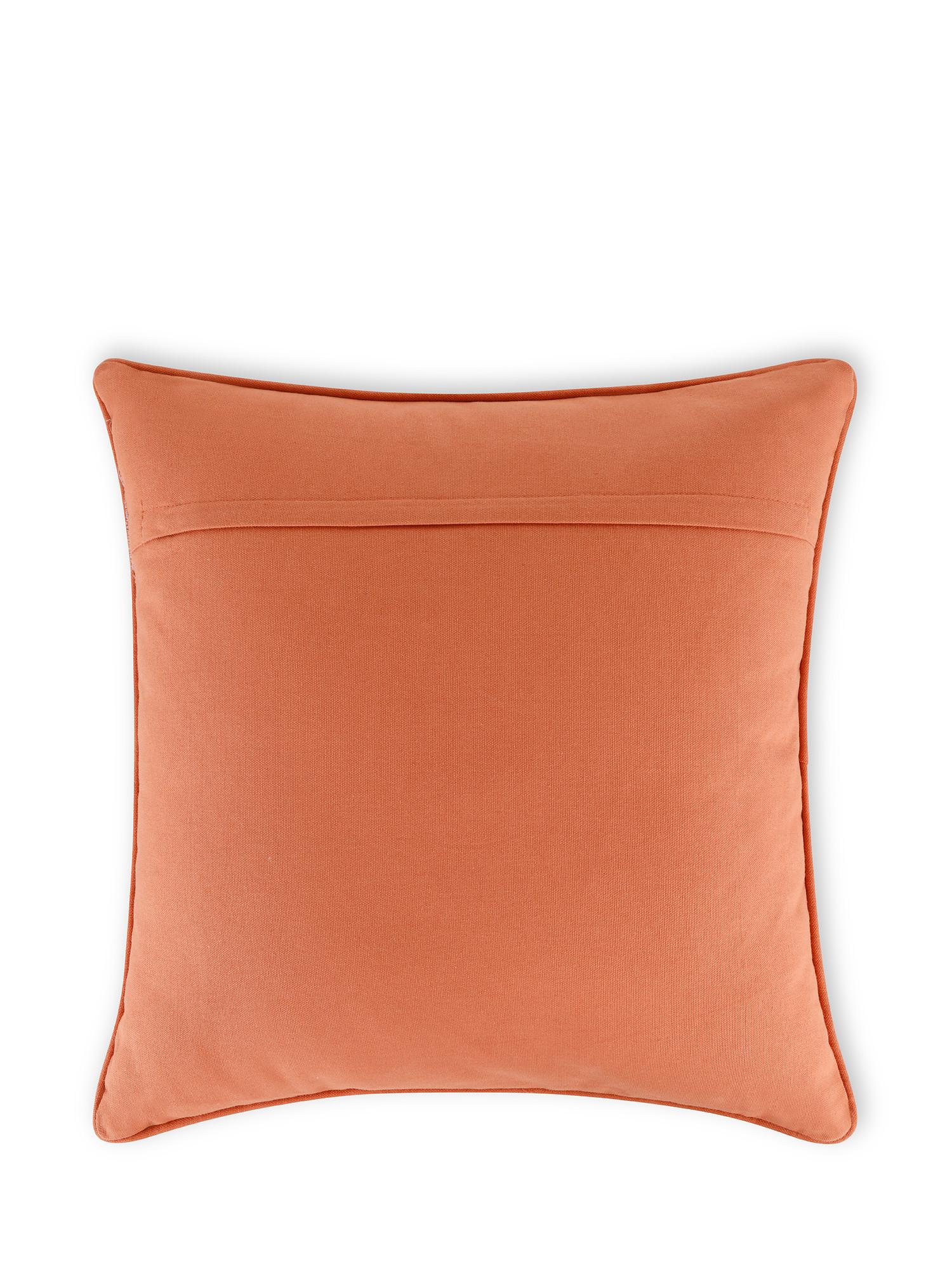 Cuscino cotone ricamo soffioni 45x45cm, Multicolor, large image number 1