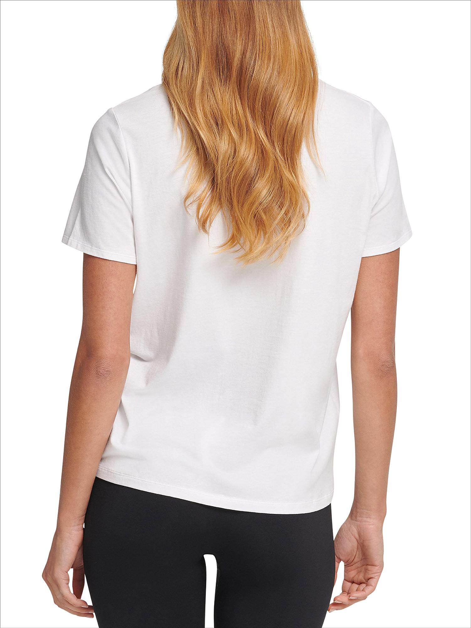 T-shirt track logo a maniche corte, Bianco, large image number 4