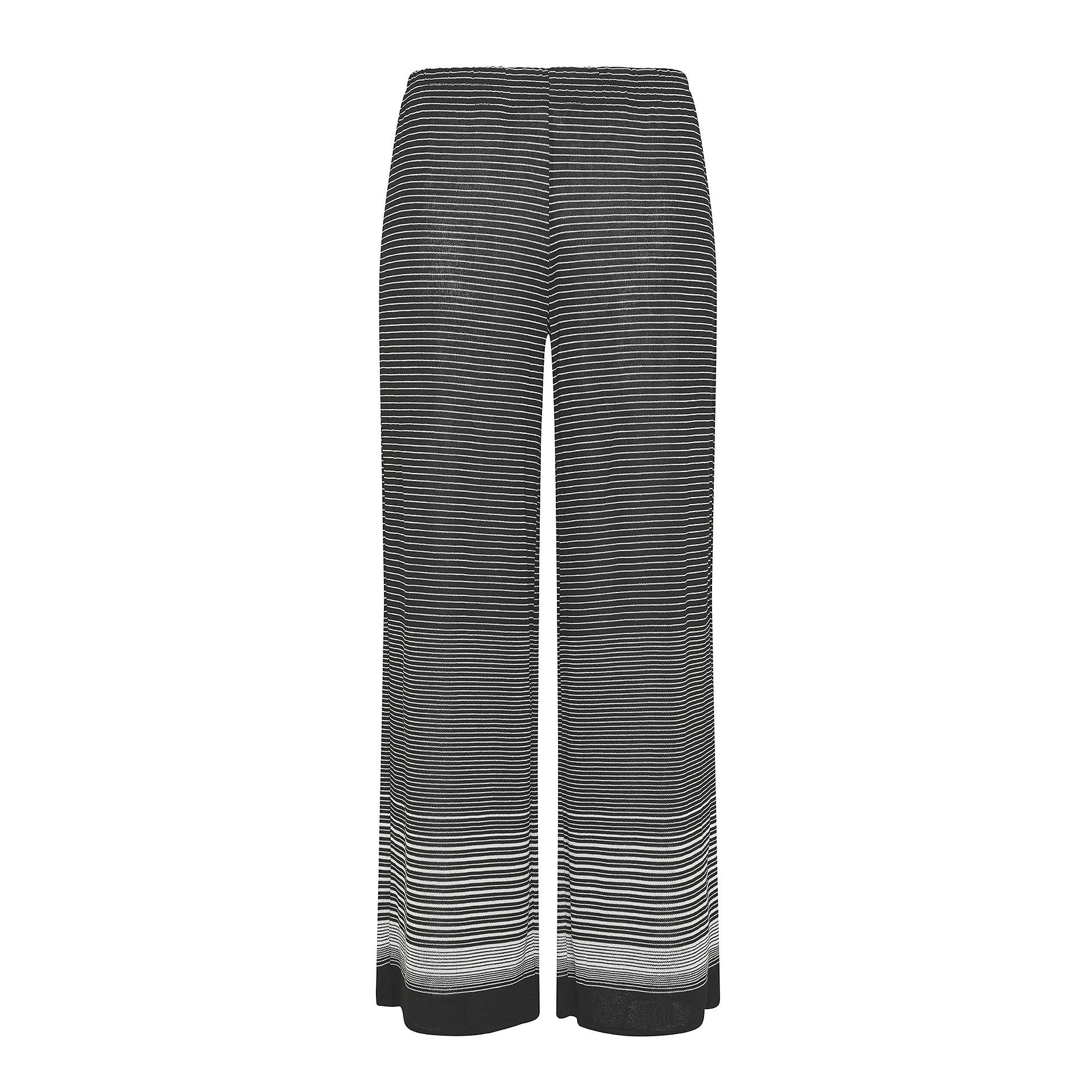 Pantalone ampio leggero a righe Koan, Nero, large image number 0