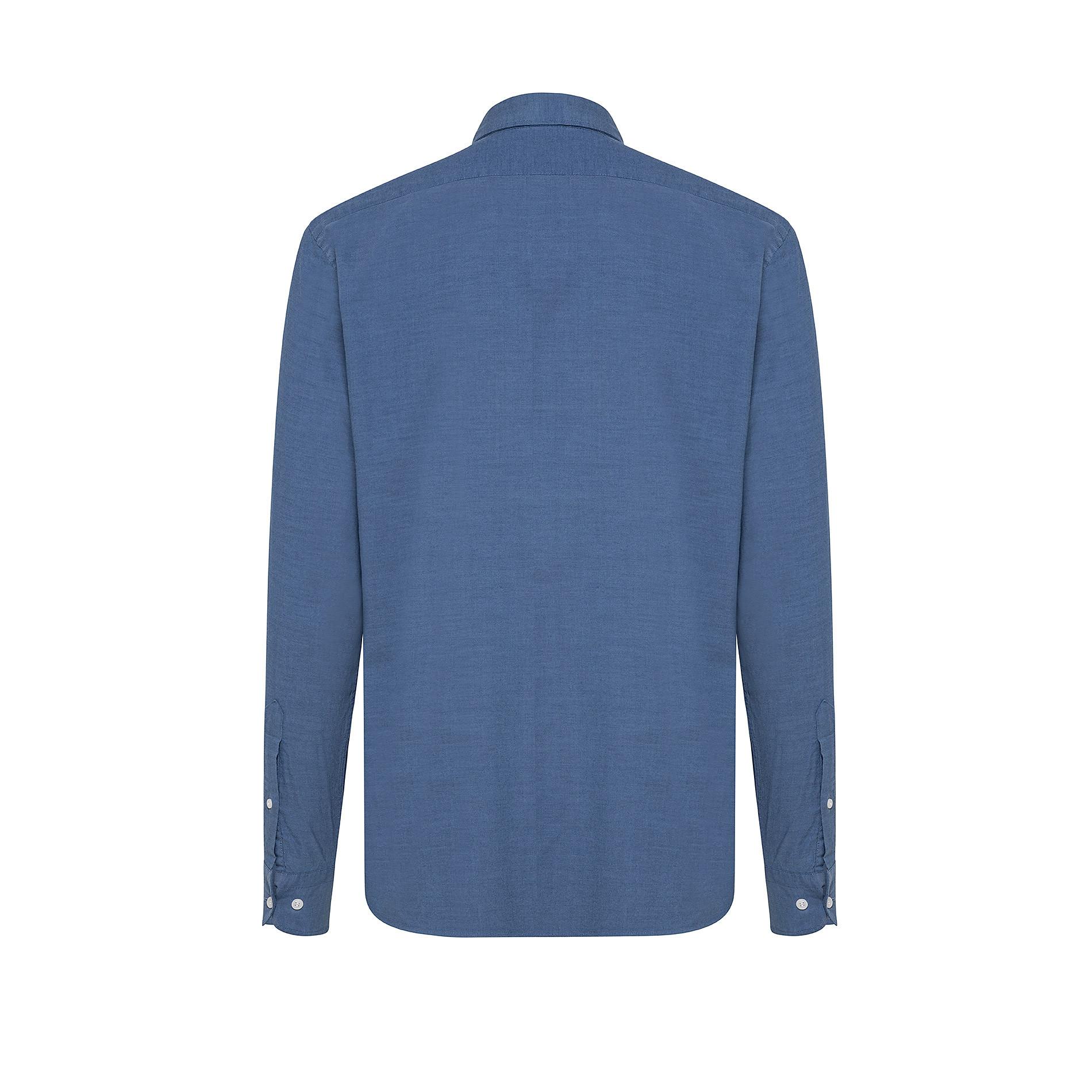Camicia in cotone doppio ritorto, Denim, large image number 1
