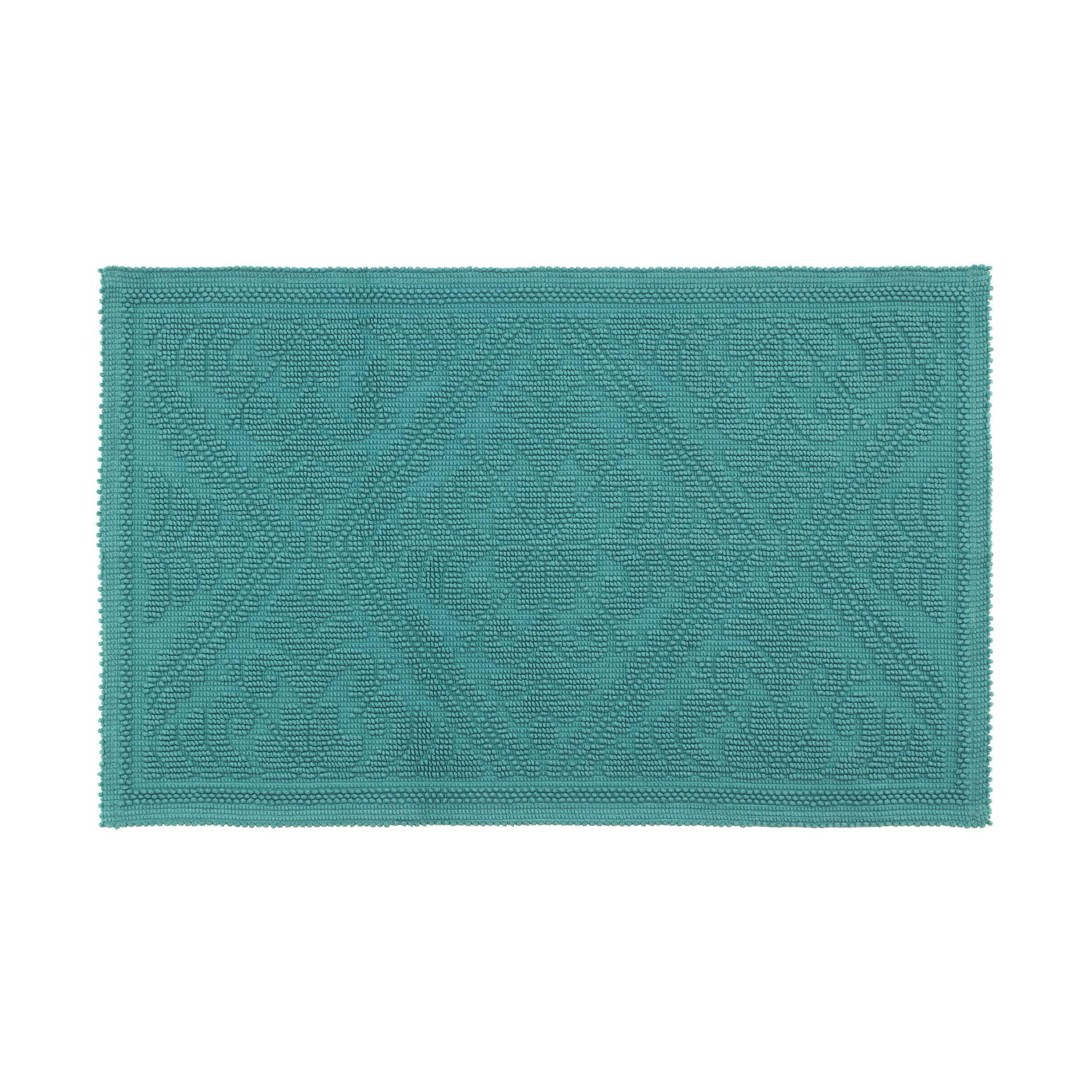 Tappeto scendidoccia spugna jacquard Zefiro, Verde smeraldo, large image number 0