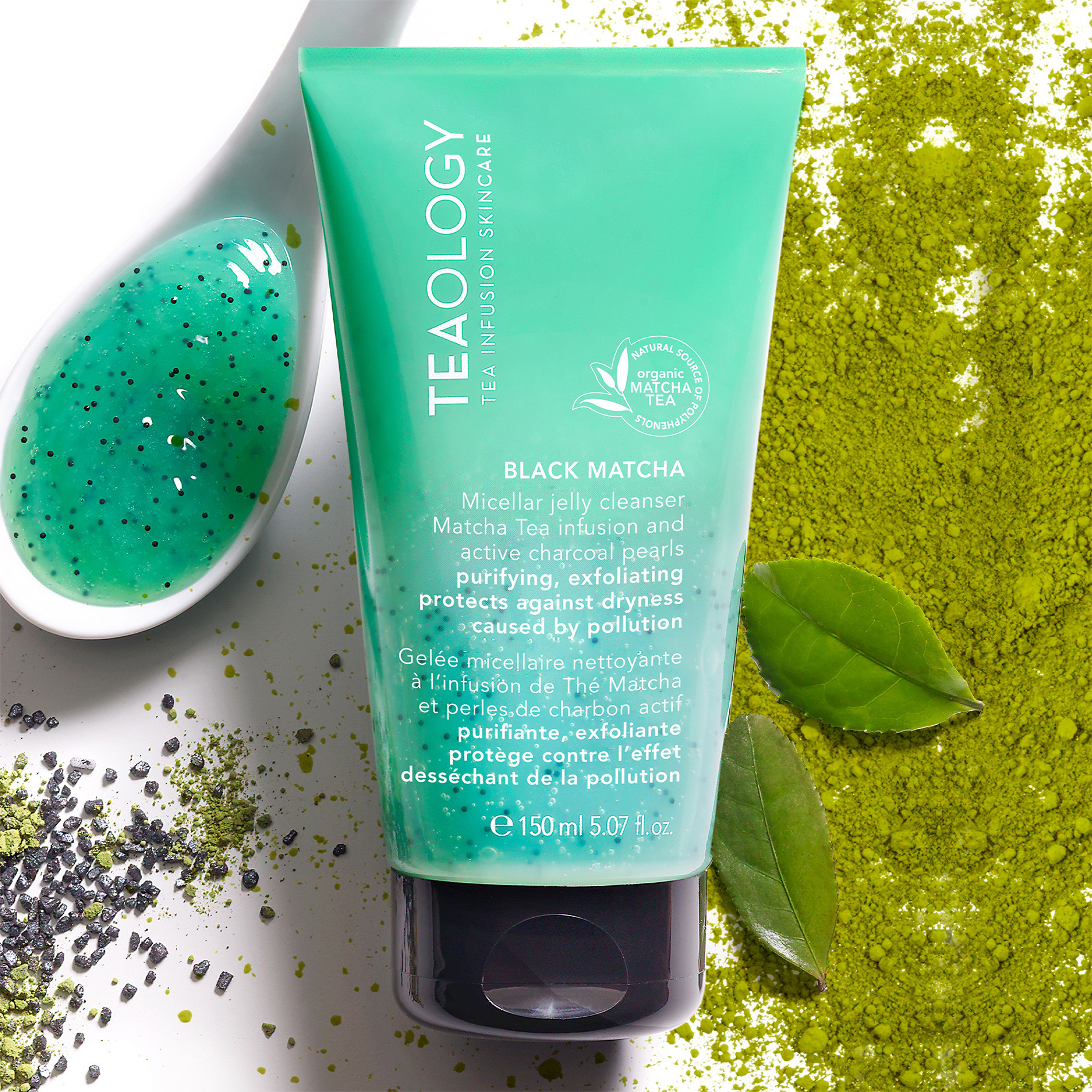 Teaology Black Matcha Micellar Jelly Cleanser 150 ml, Verde, large image number 1