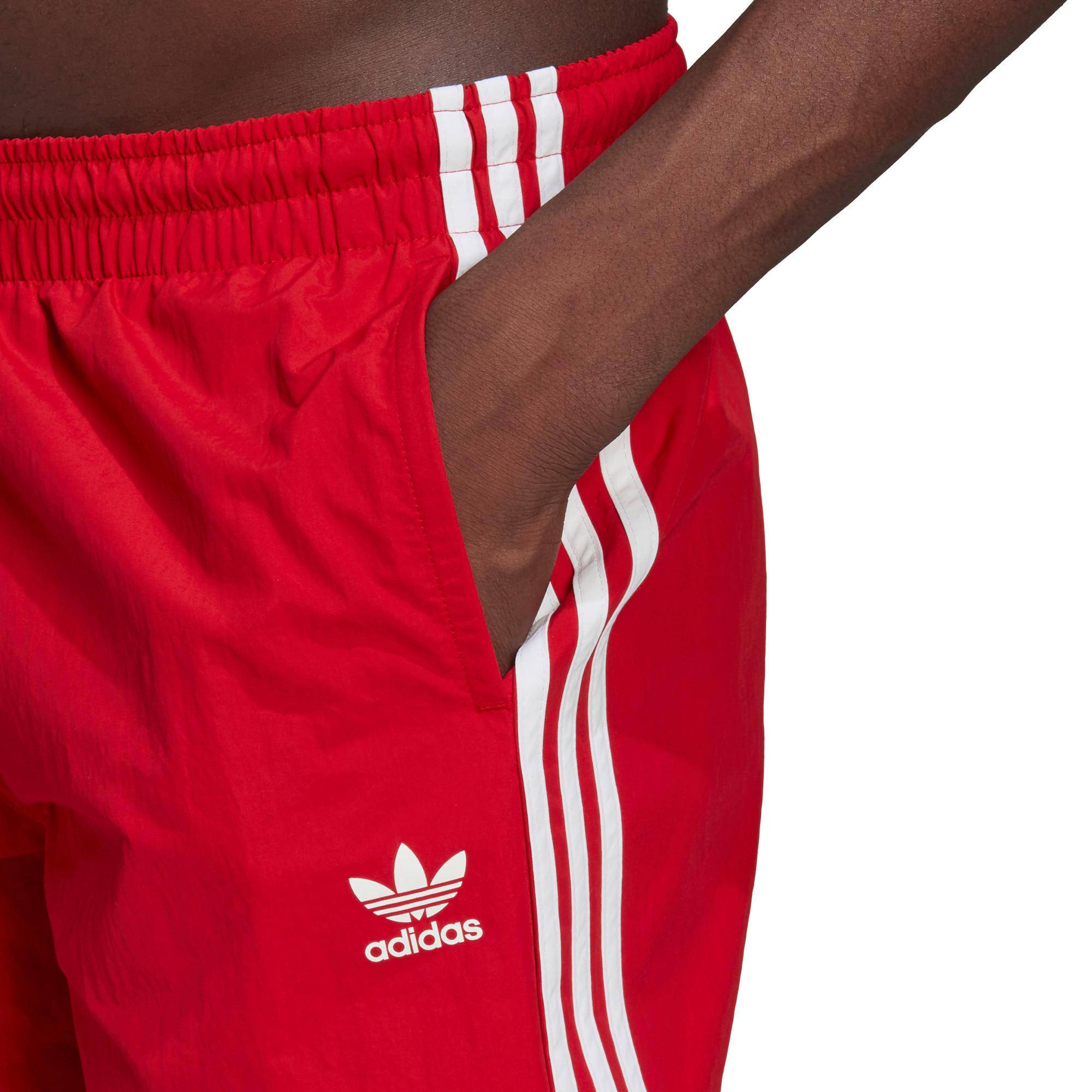 Short da nuoto adicolor classics 3-stripes, Rosso, large image number 3