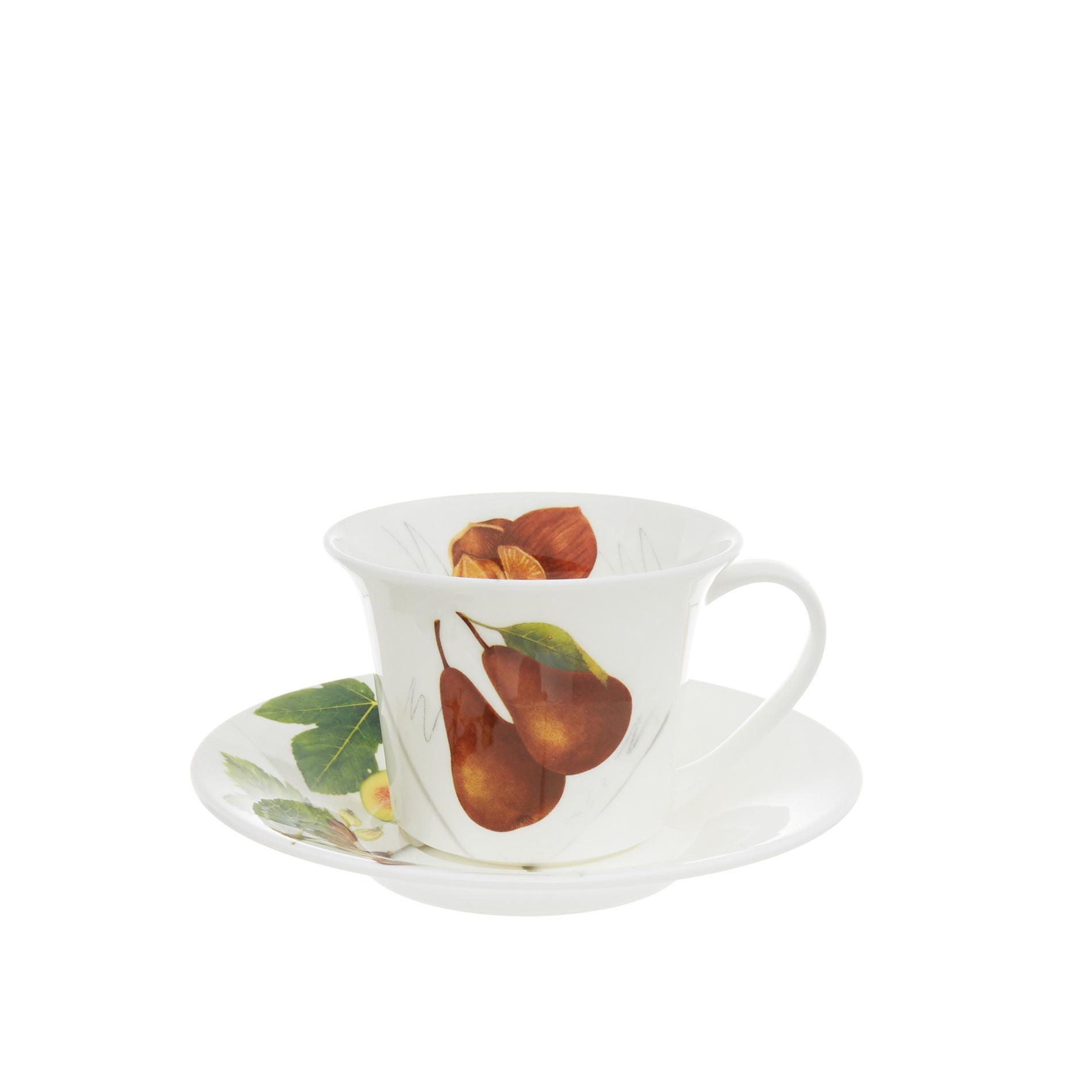 Tazza tea fine bone china decoro vegan La Cucina Italiana, Bianco, large image number 0