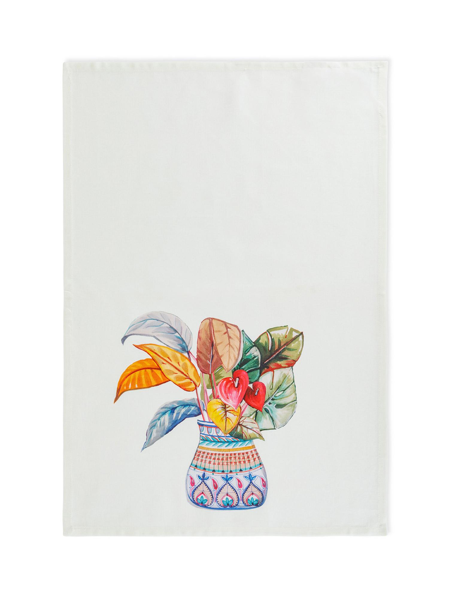 Set 3 strofinacci puro cotone stampa vasi, Multicolor, large image number 3