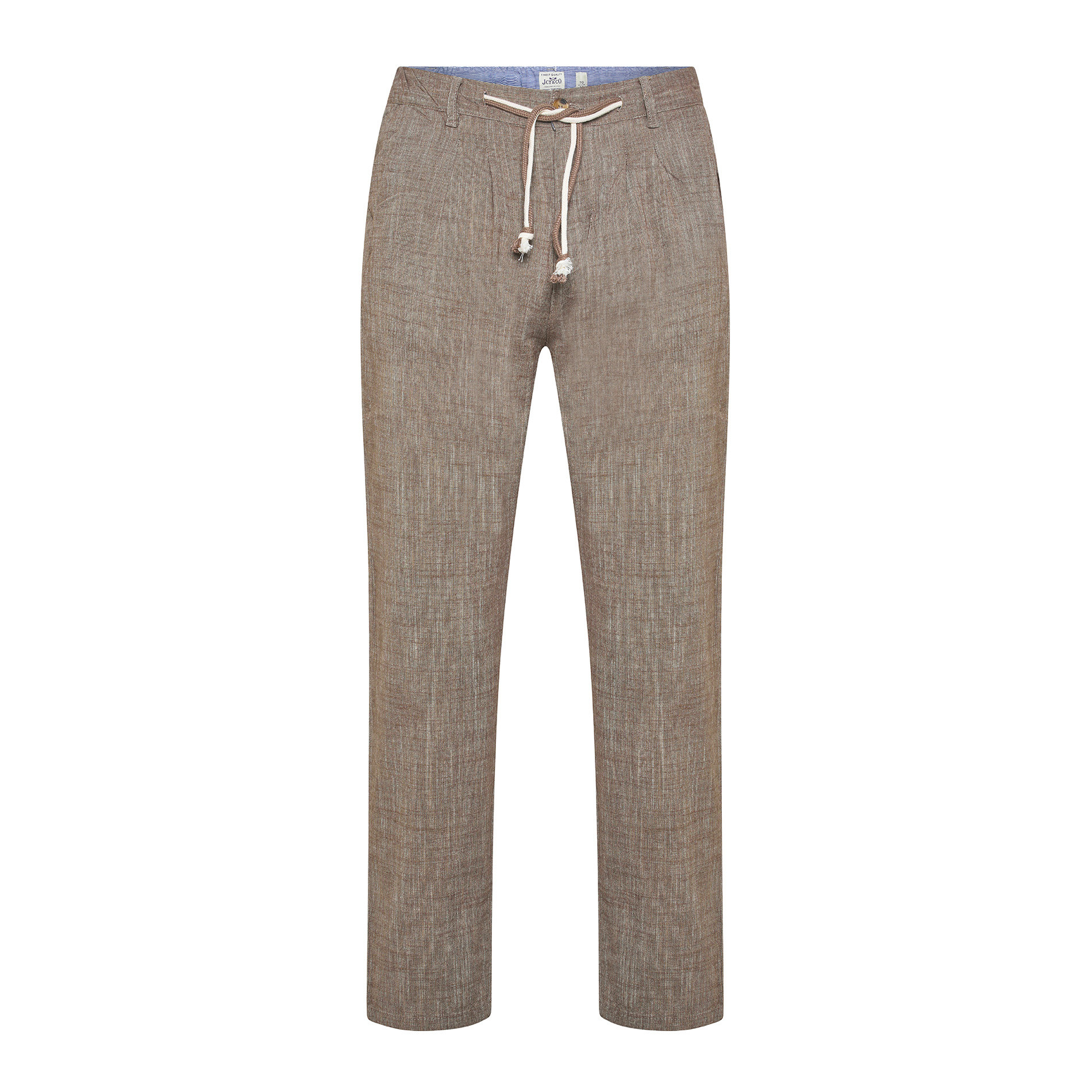 Pantalone puro cotone light JCT, Beige, large image number 0