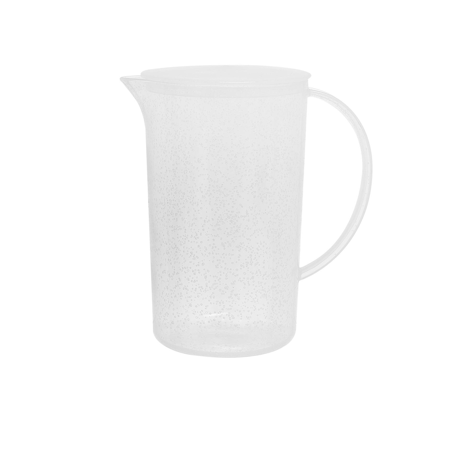 Caraffa plastica bolle, Bianco, large image number 0