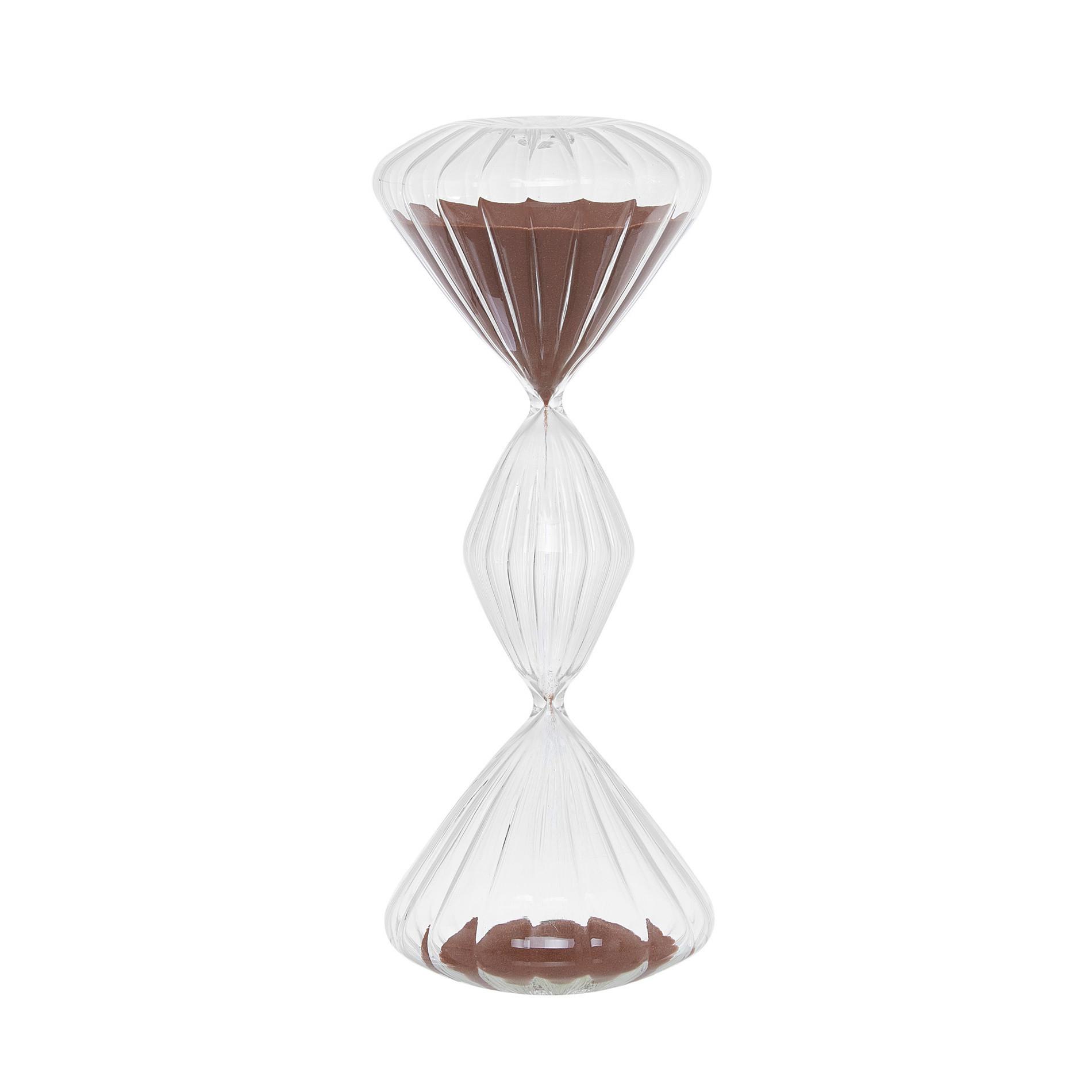 Clessidra vetro con sabbia colorata, Trasparente, large image number 0