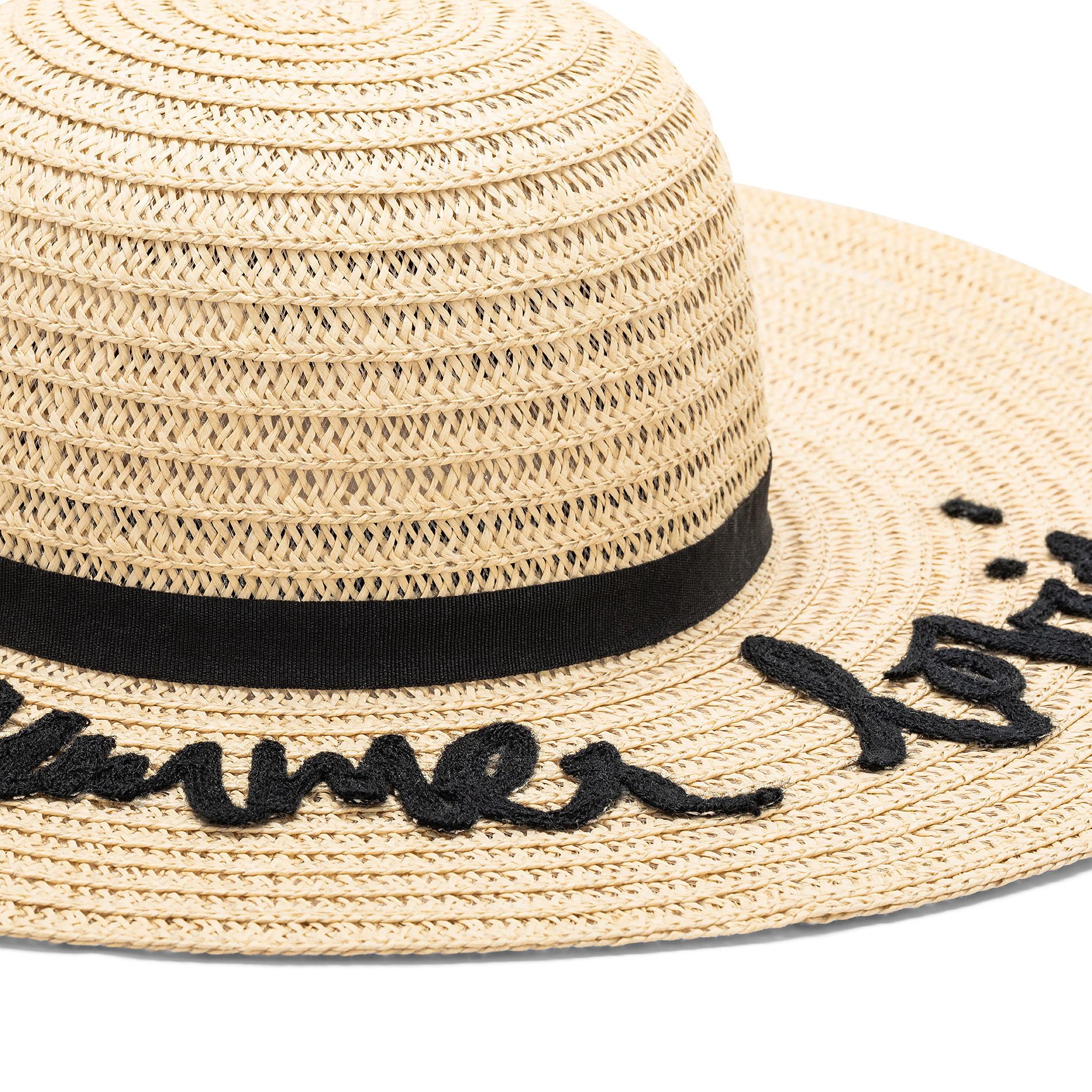 Cappello tesa larga con ricamo, Beige, large image number 1