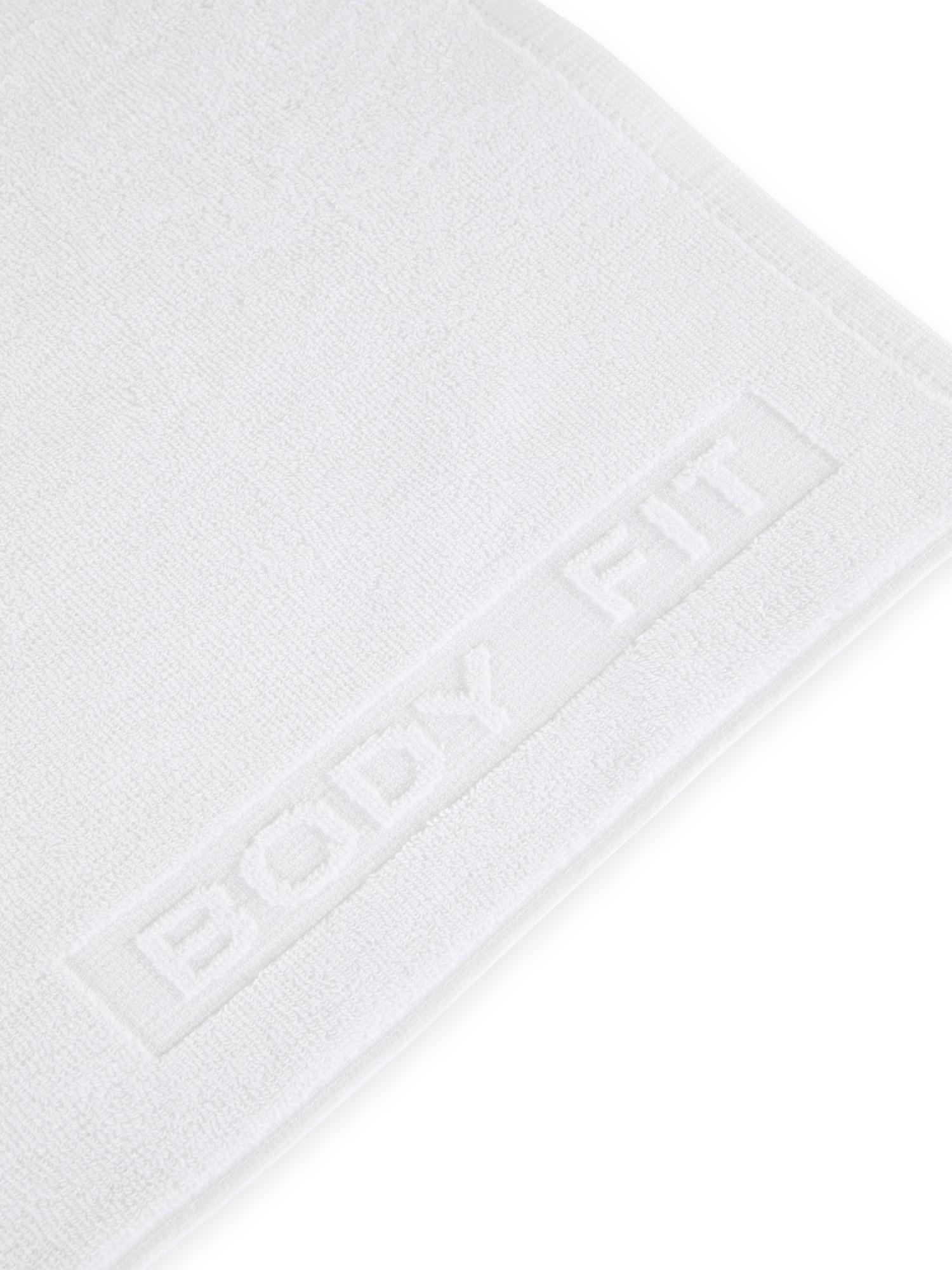Asciugamano capelli spugna di cotone tinta unita, Bianco, large image number 2