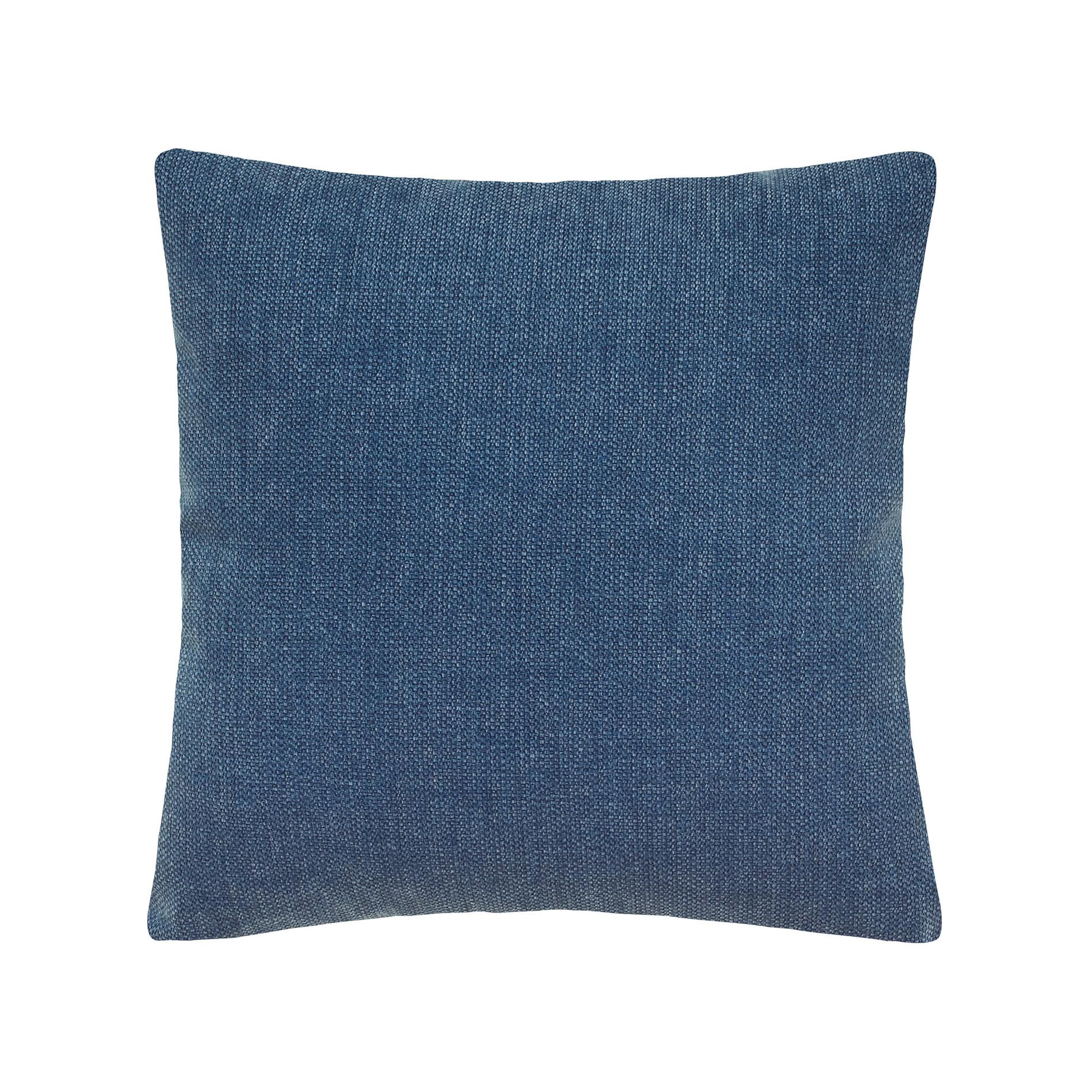 Cuscino tinta unita effetto sfumato, Blu melange, large image number 0