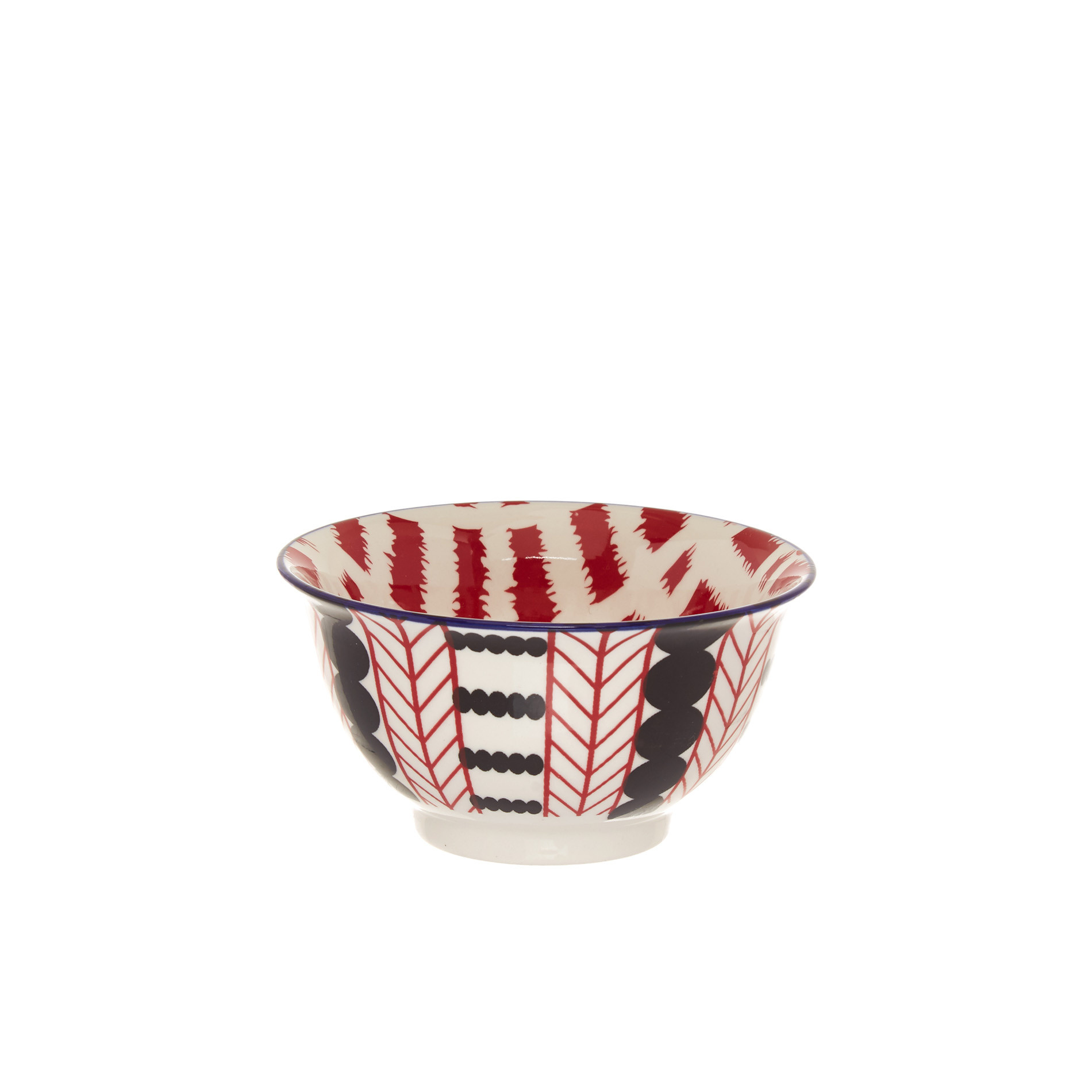 Coppetta stoneware motivo geometrico, Rosso, large image number 0