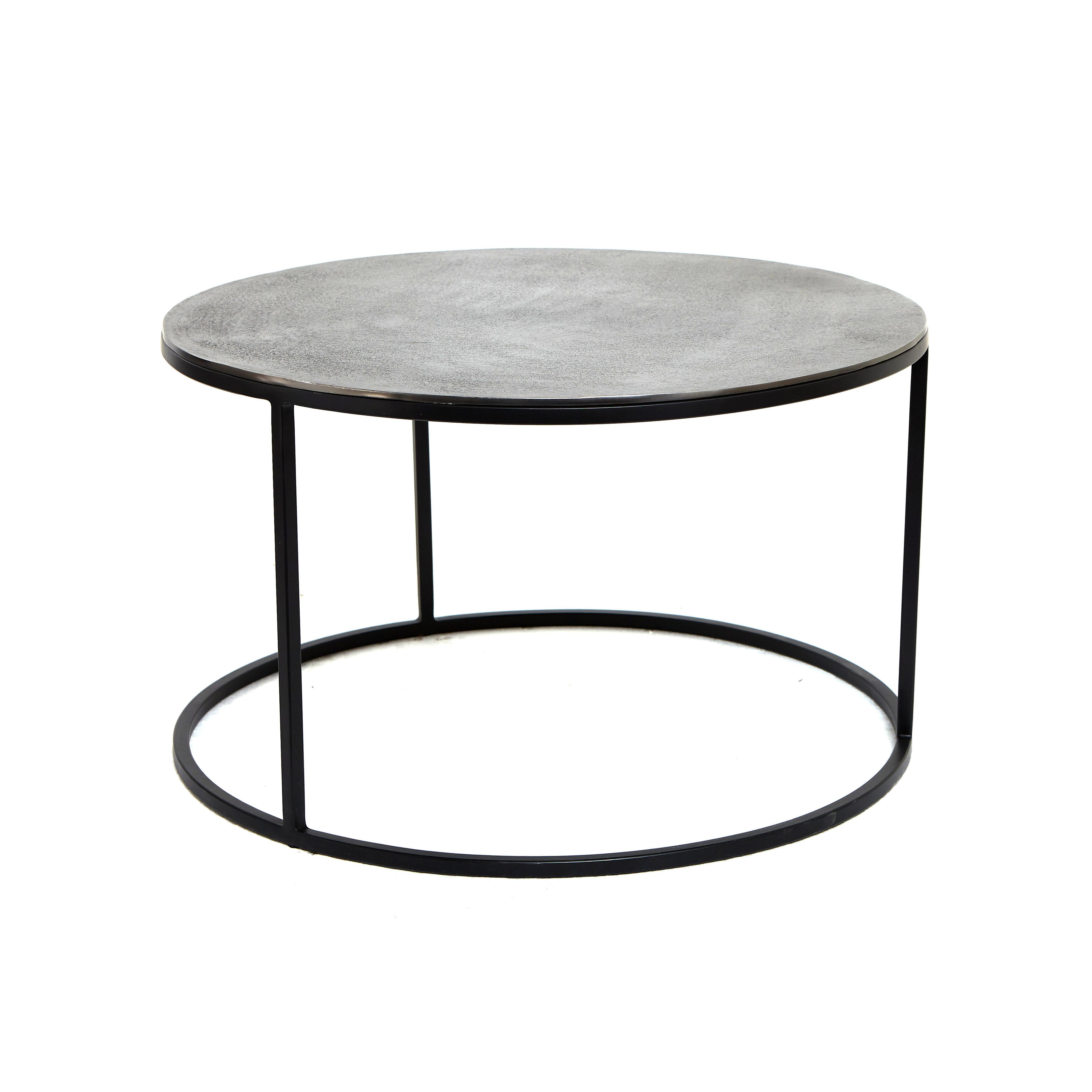 Tavolino alluminio e ferro Iron, Grigio argento, large image number 0