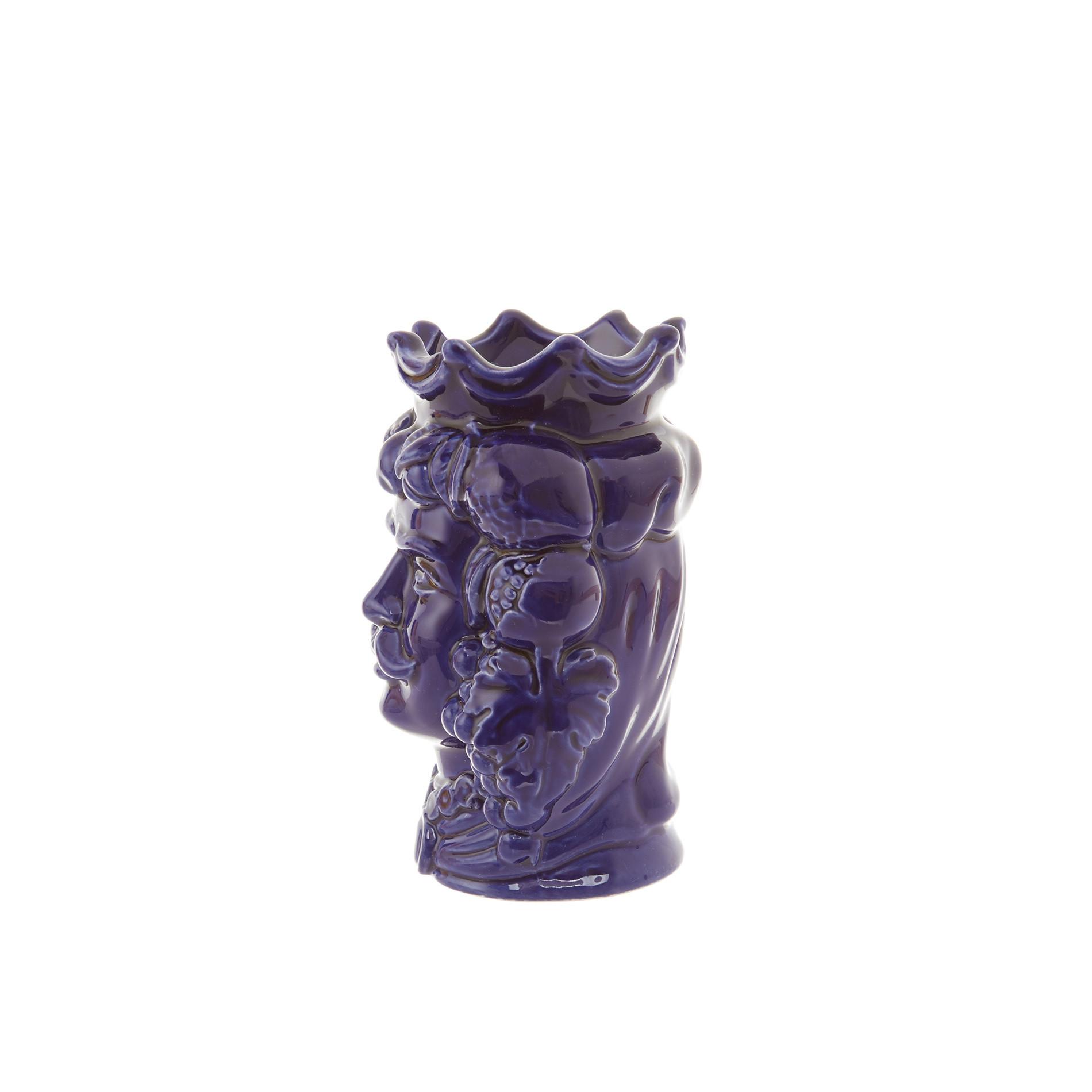 Testa di moro by Ceramiche Siciliane Ruggeri, Blu, large image number 1