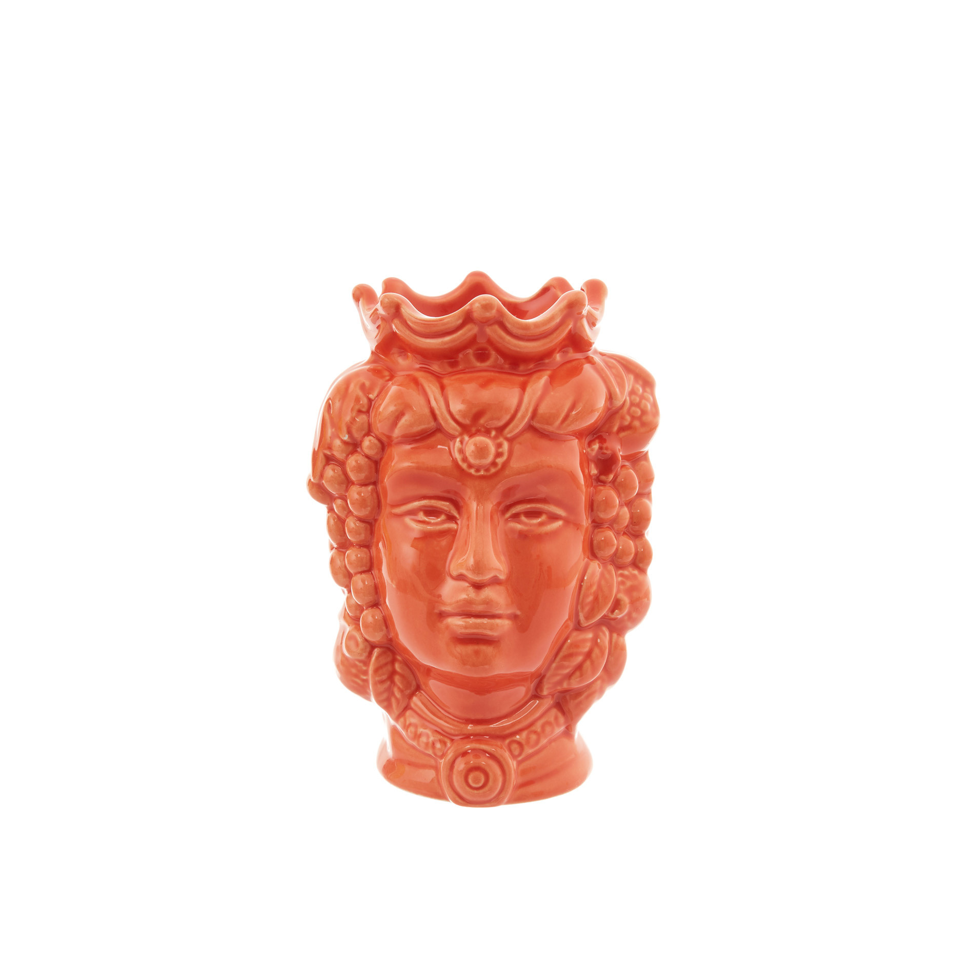Testa di moro by Ceramiche Siciliane Ruggeri, Arancione, large image number 0
