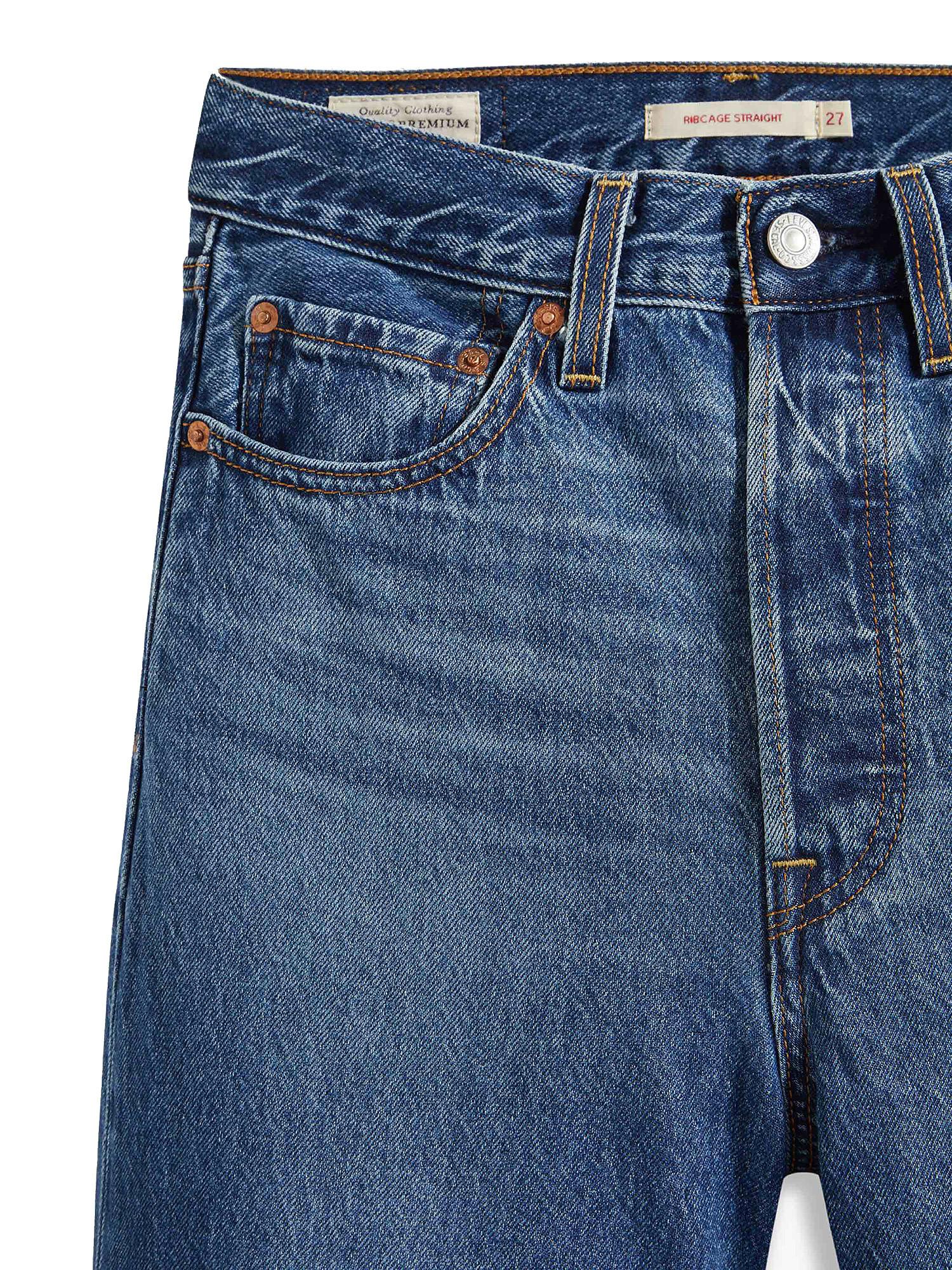 Jeans donna ribcage straight ankle, Denim, large image number 4