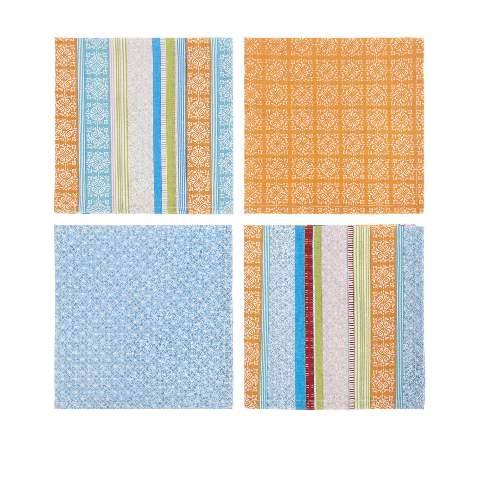 Set 4 tovaglioli stampa multi righe, Multicolor, large image number 1