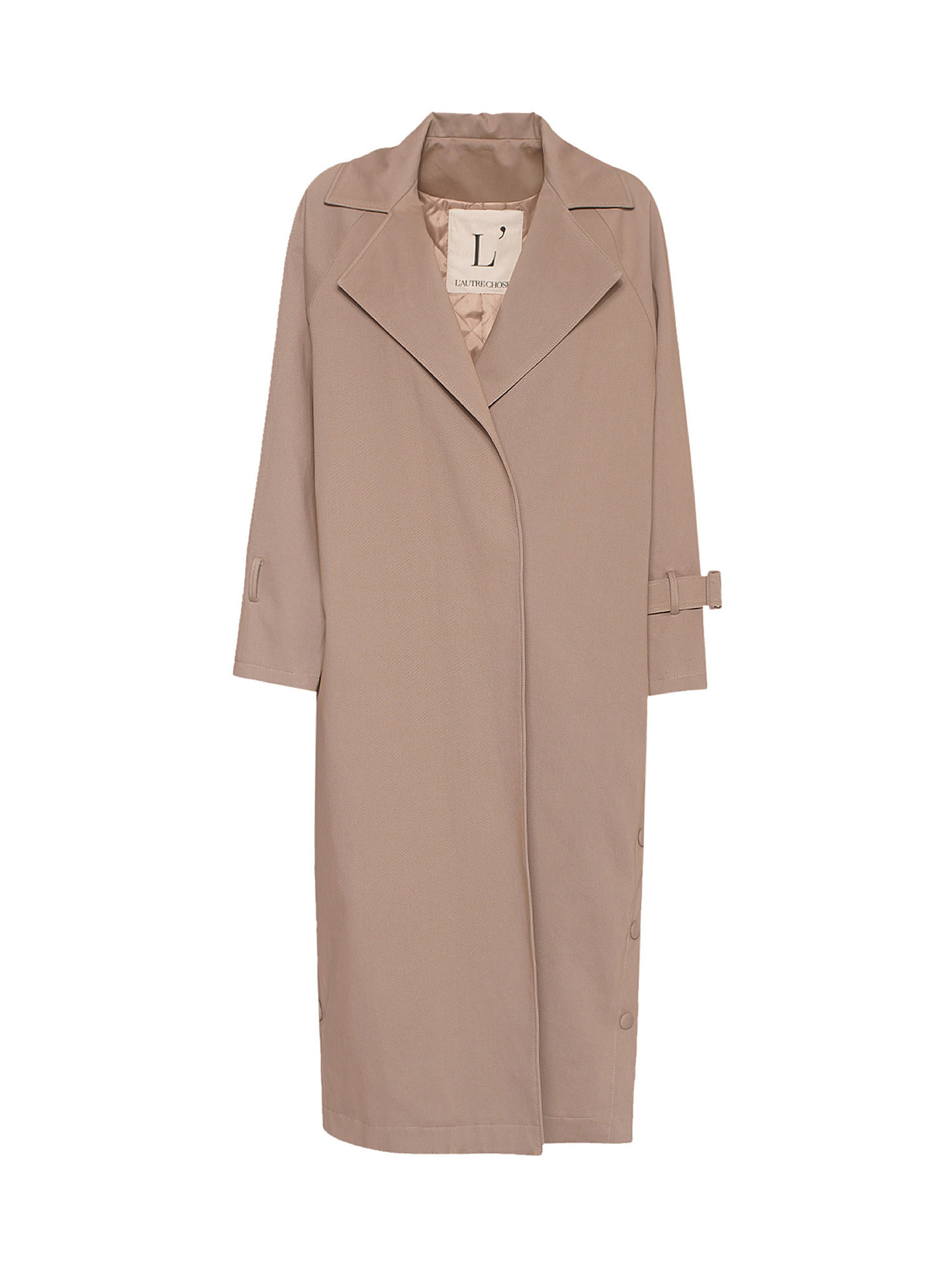 Trench oversize, Beige, large image number 0