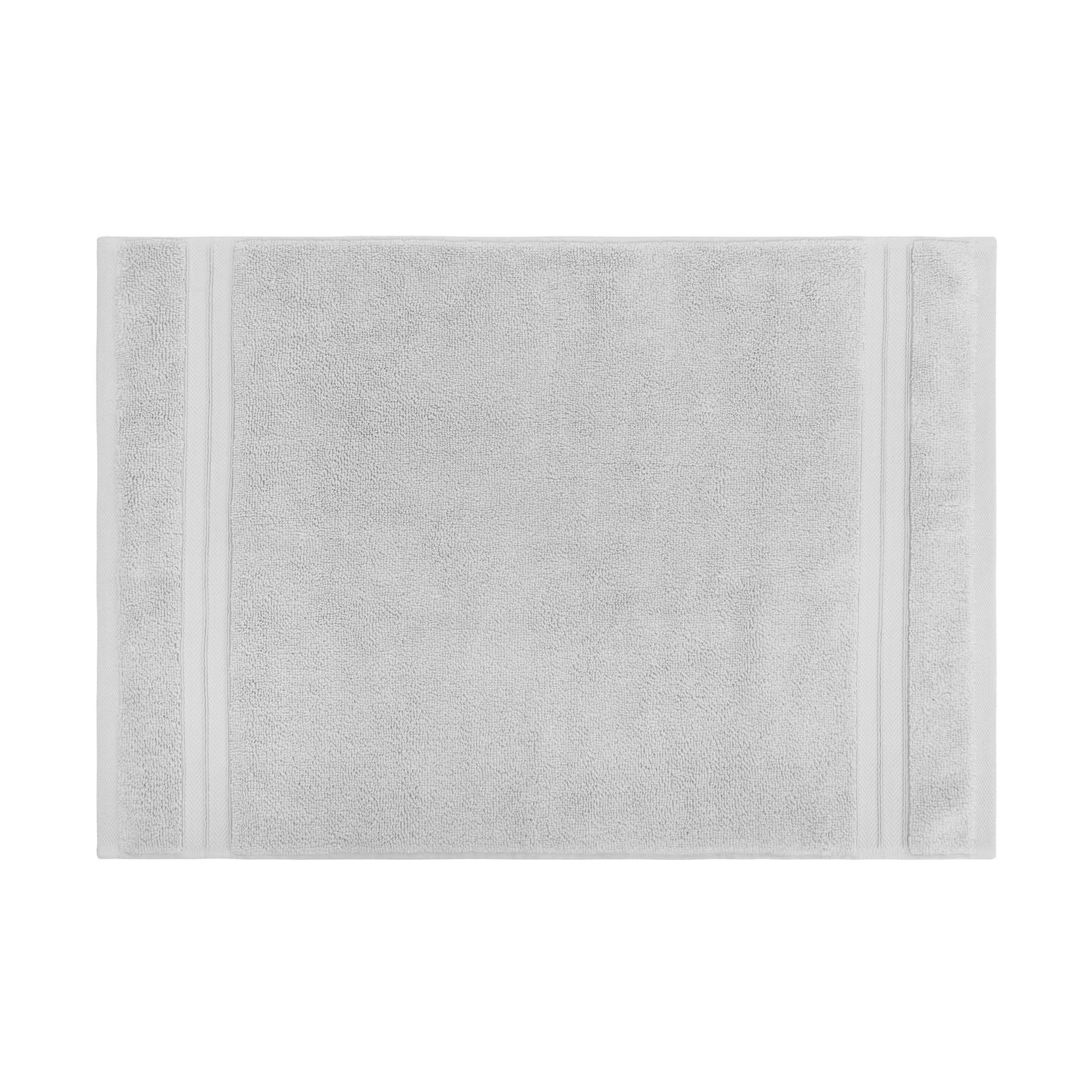 Asciugamano puro cotone tinta unita Thermae, Grigio perla, large image number 2