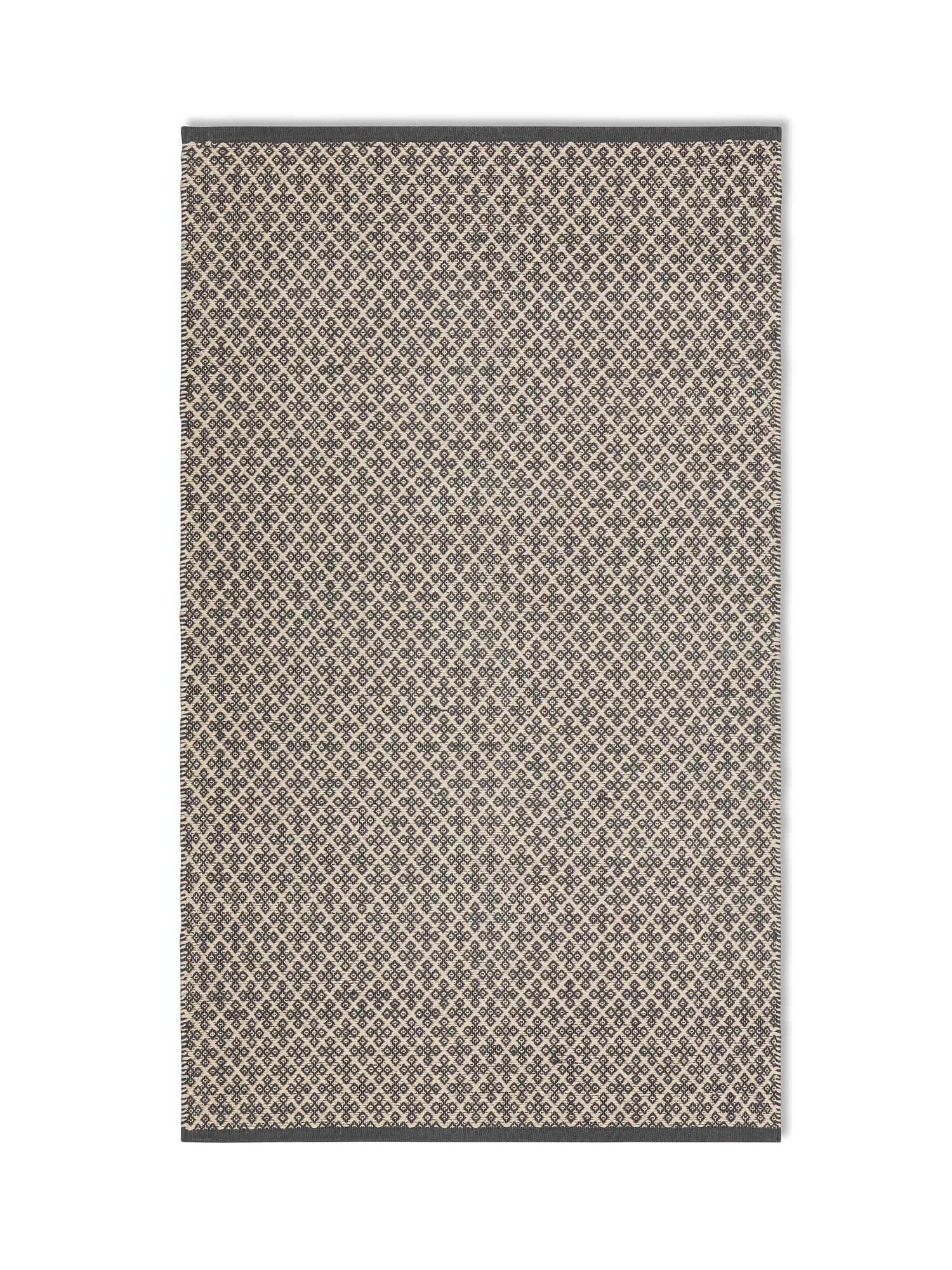 Tappeto tessuto a mano motivo geometrico, Grigio, large image number 0