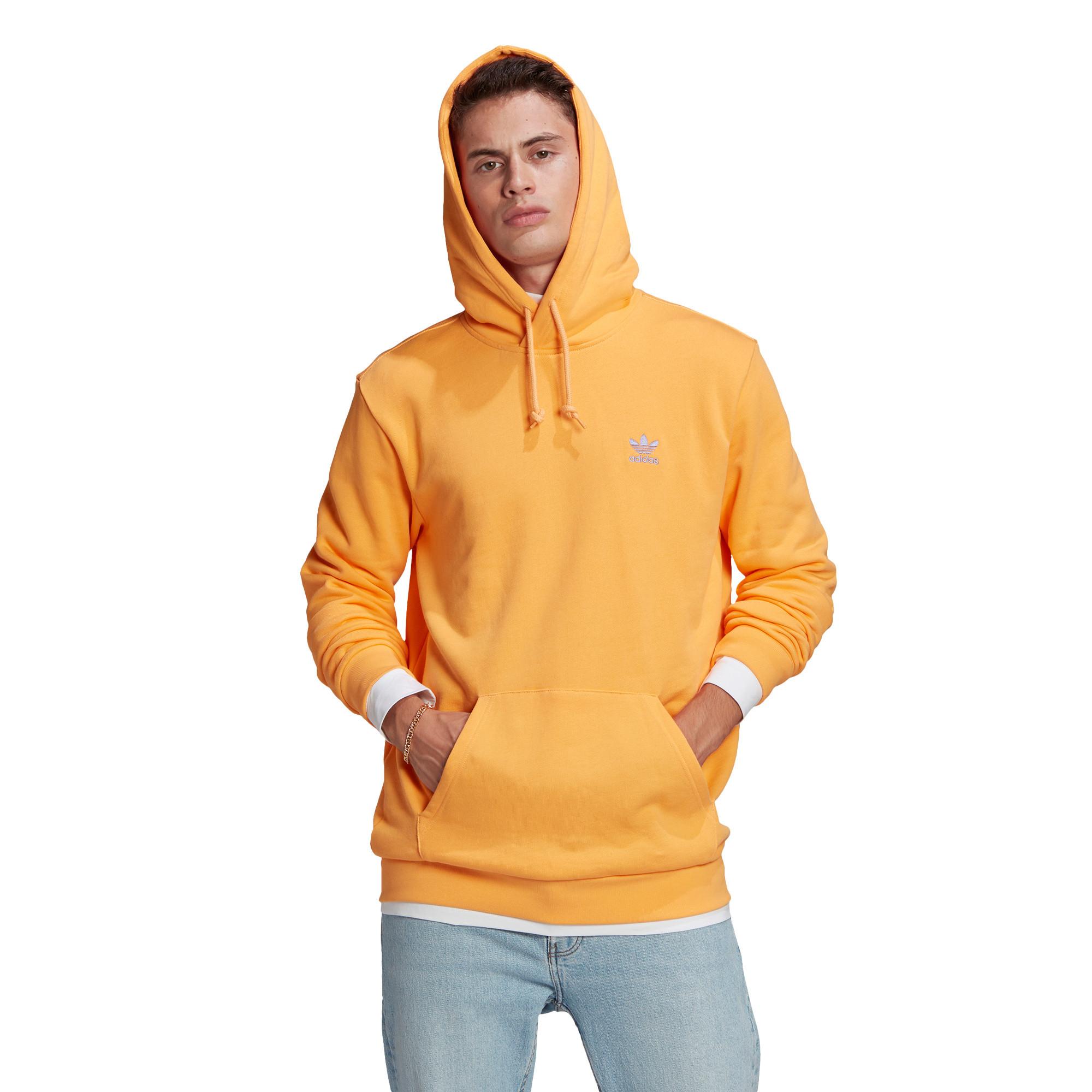 Felpa in spugna loungewear trefoil essentials, Arancione, large image number 1