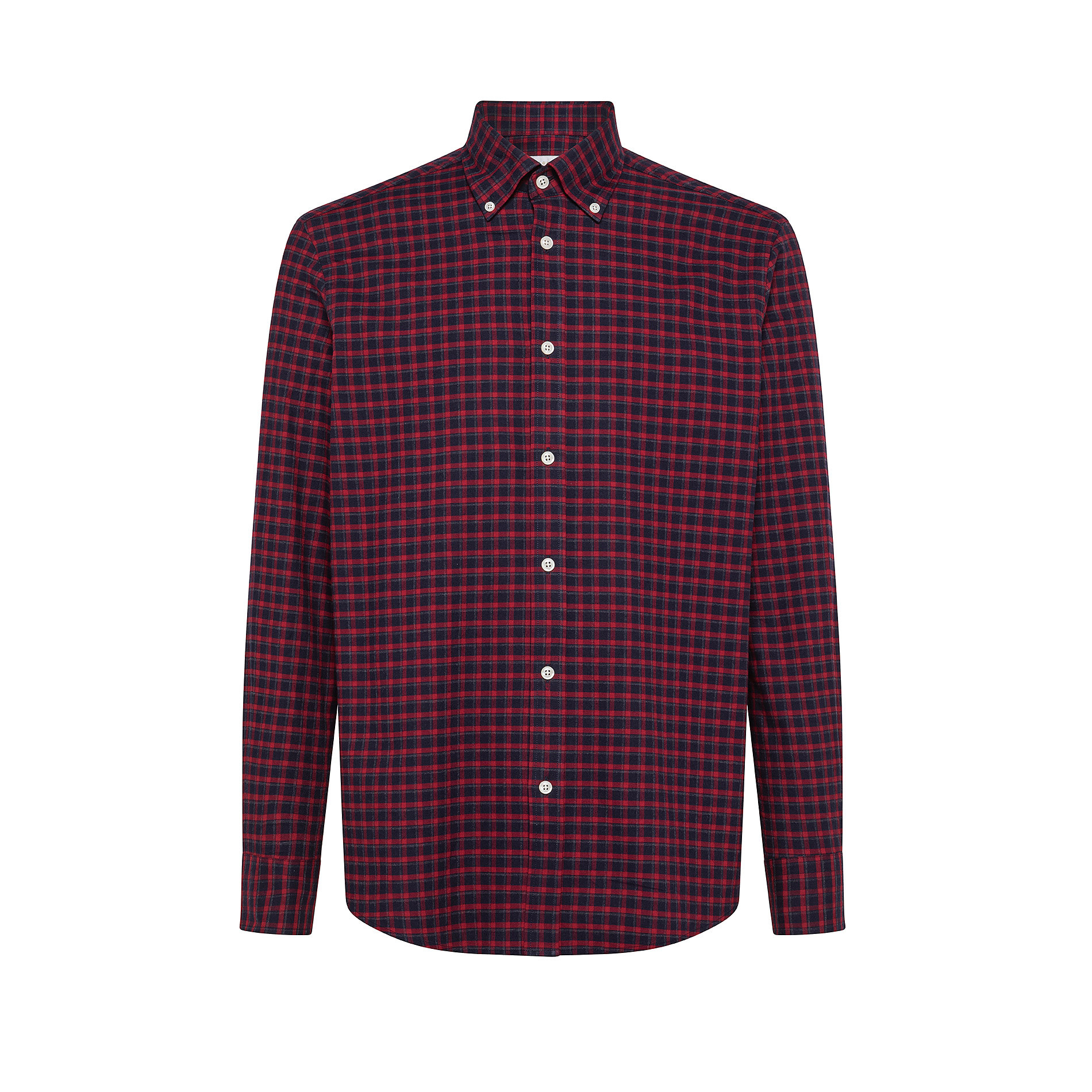Camicia button-down regular fit in cotone organico, Rosso, large image number 0