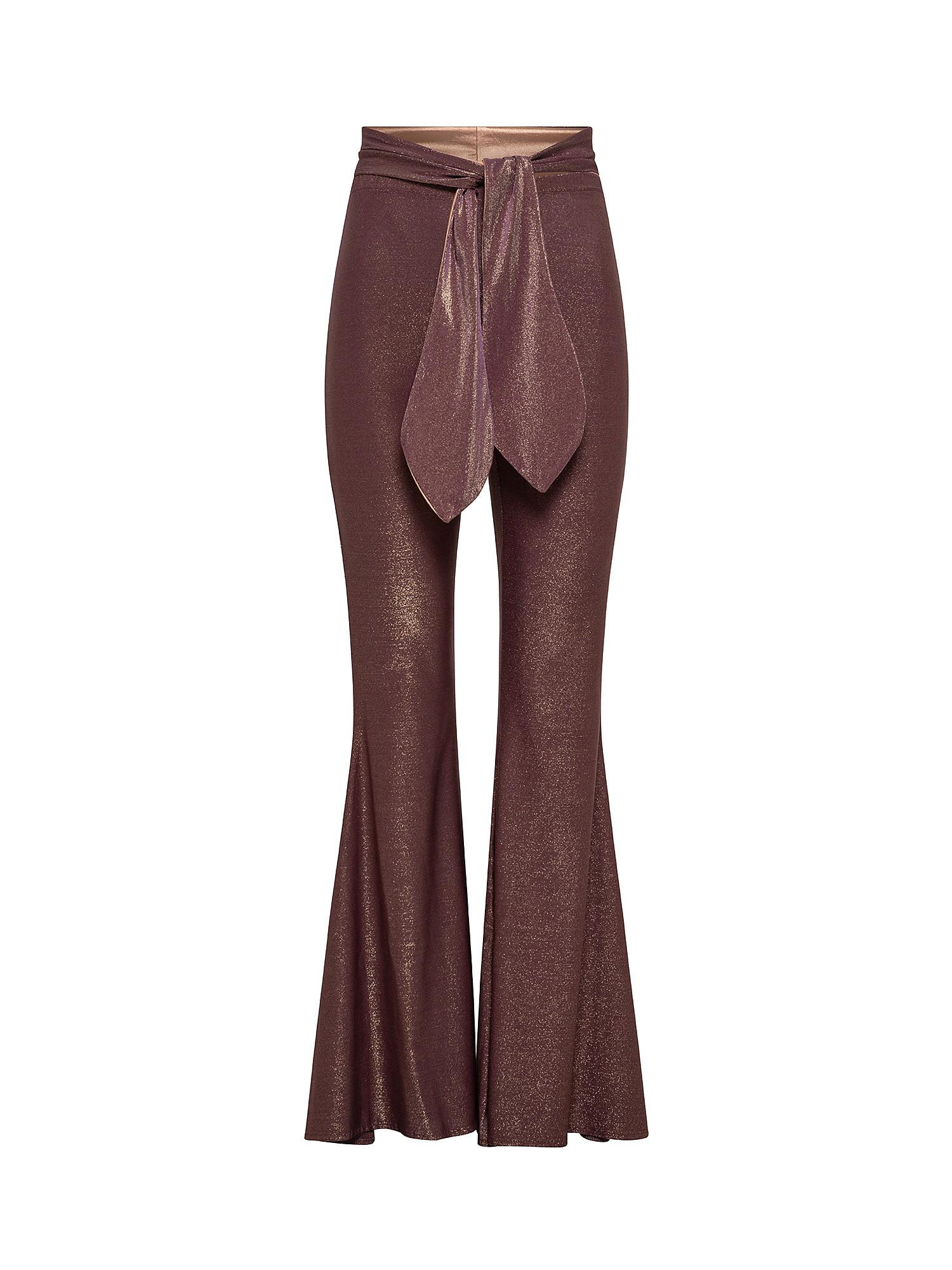 Pantalone a zampa, Viola melanzana, large image number 0