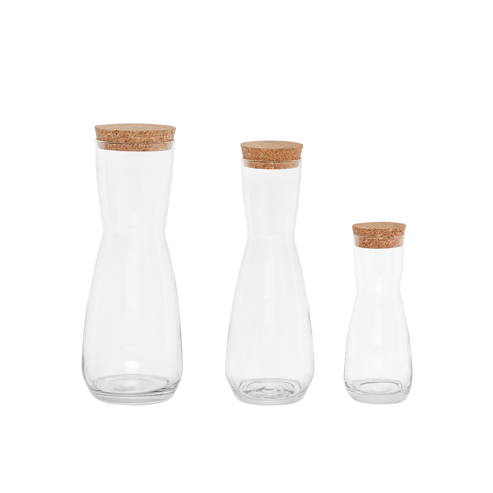 Brocca vetro con tappo 1 L, Trasparente, large image number 1