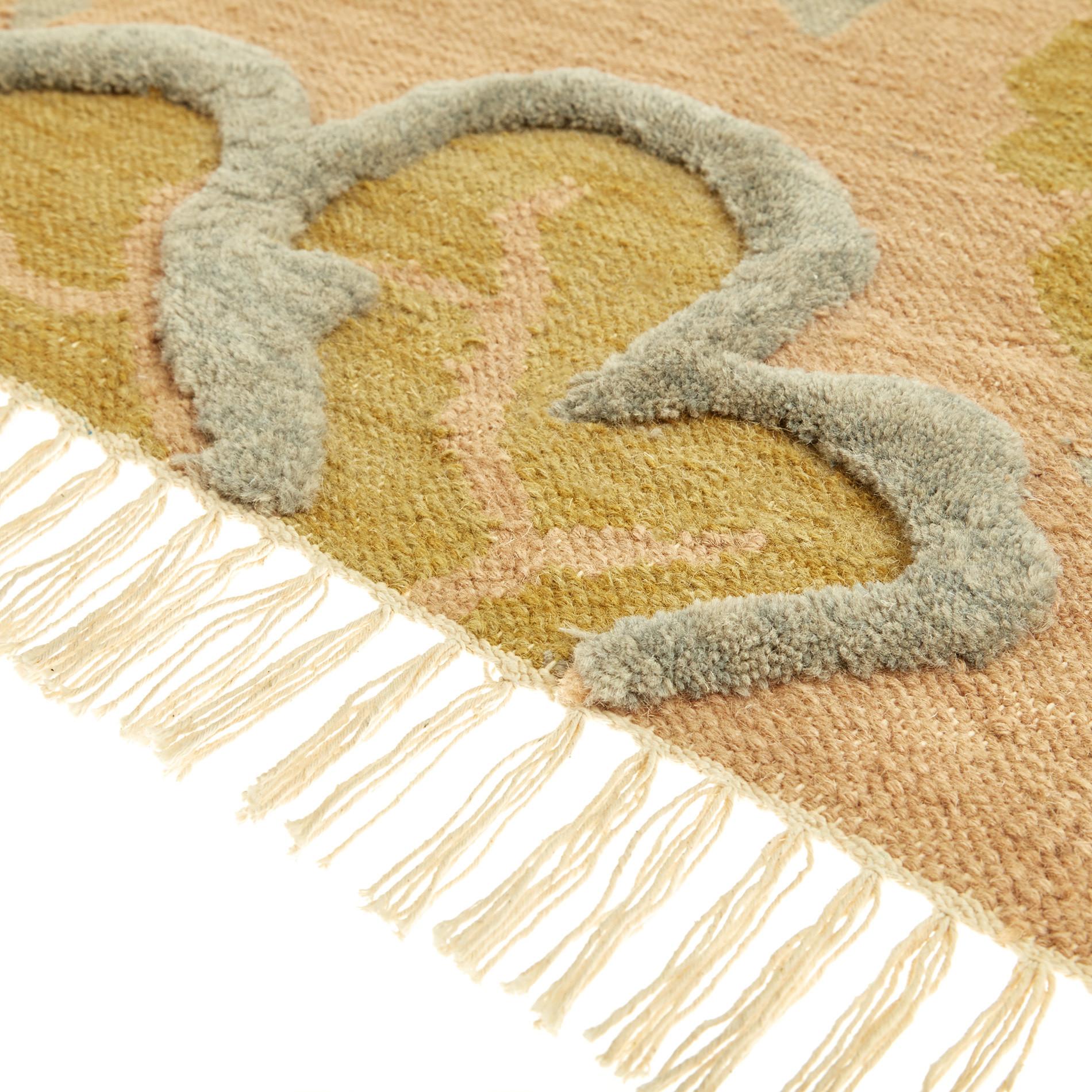 Tappeto in lana e cotone motivo floreale, Multicolor, large image number 2