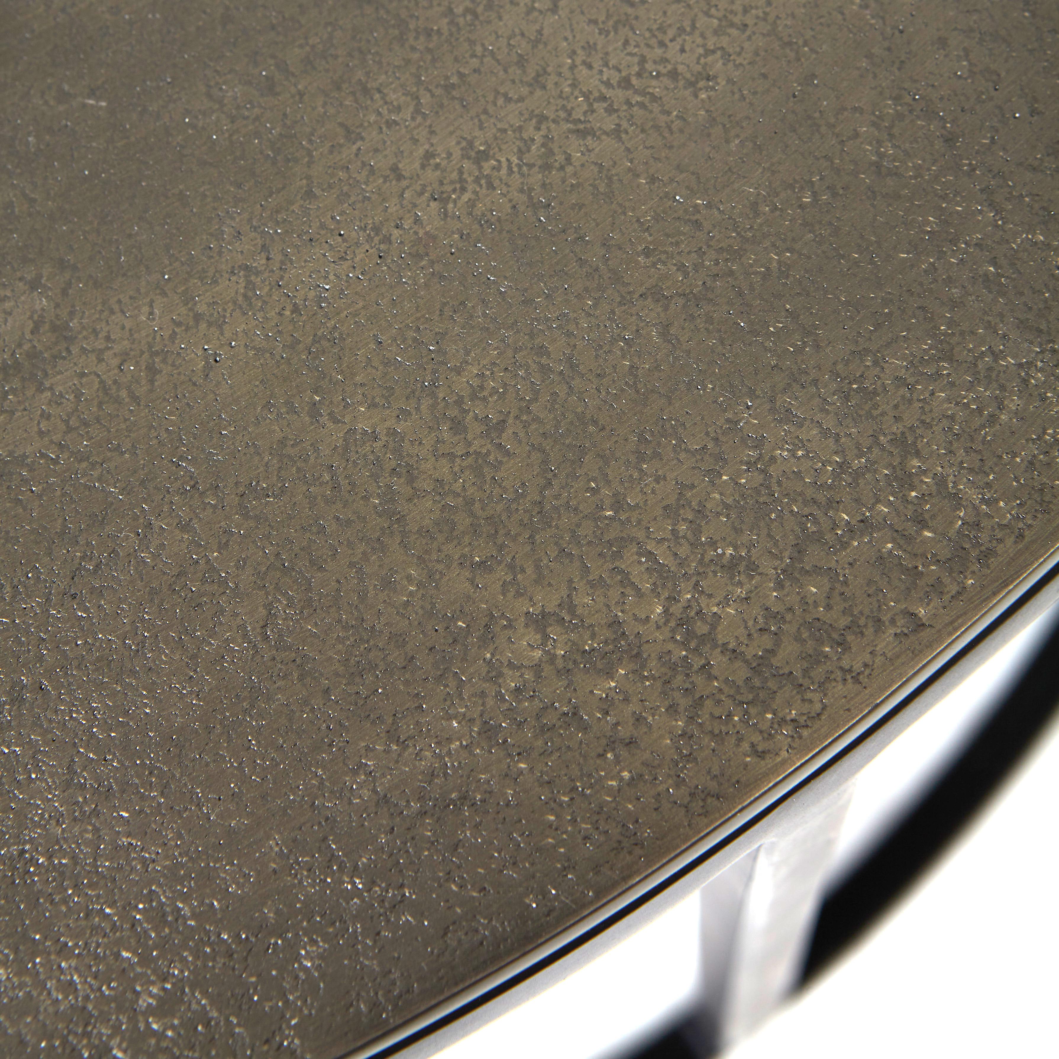 Tavolino alluminio e ferro Iron, Grigio argento, large image number 1