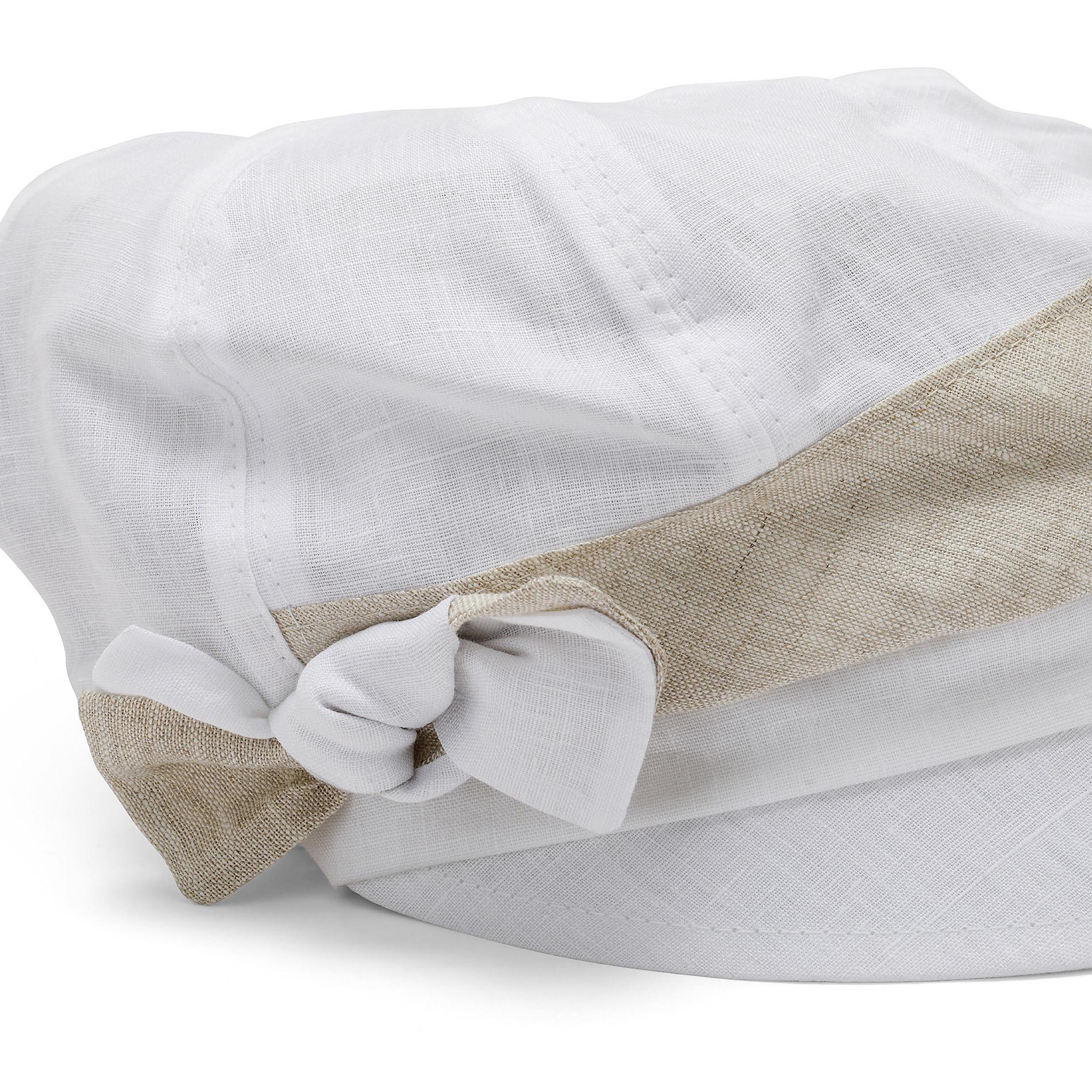 Cappello di lino con banda Koan, Bianco, large image number 1
