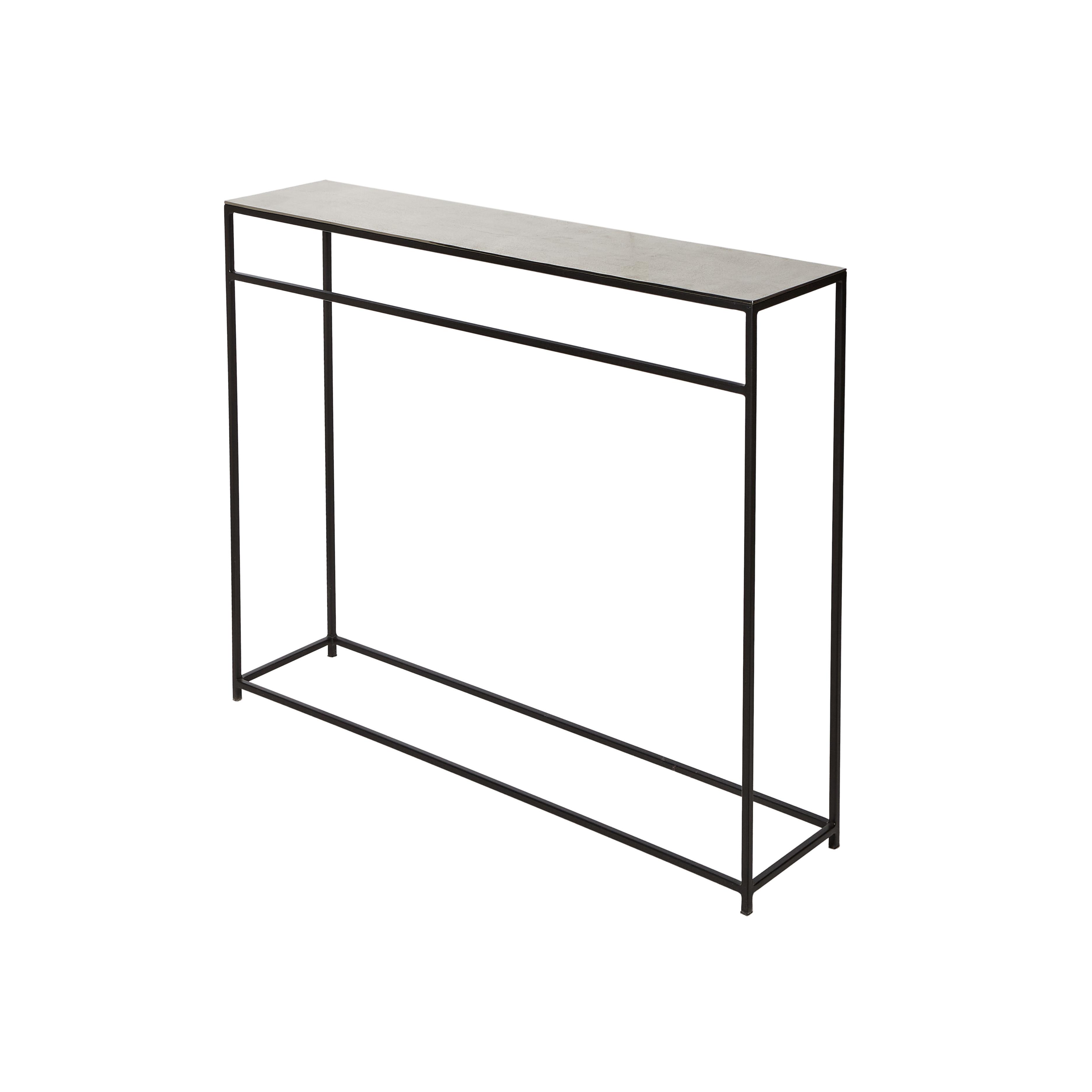 Consolle in alluminio e ferro Consuelo, Grigio argento, large image number 0