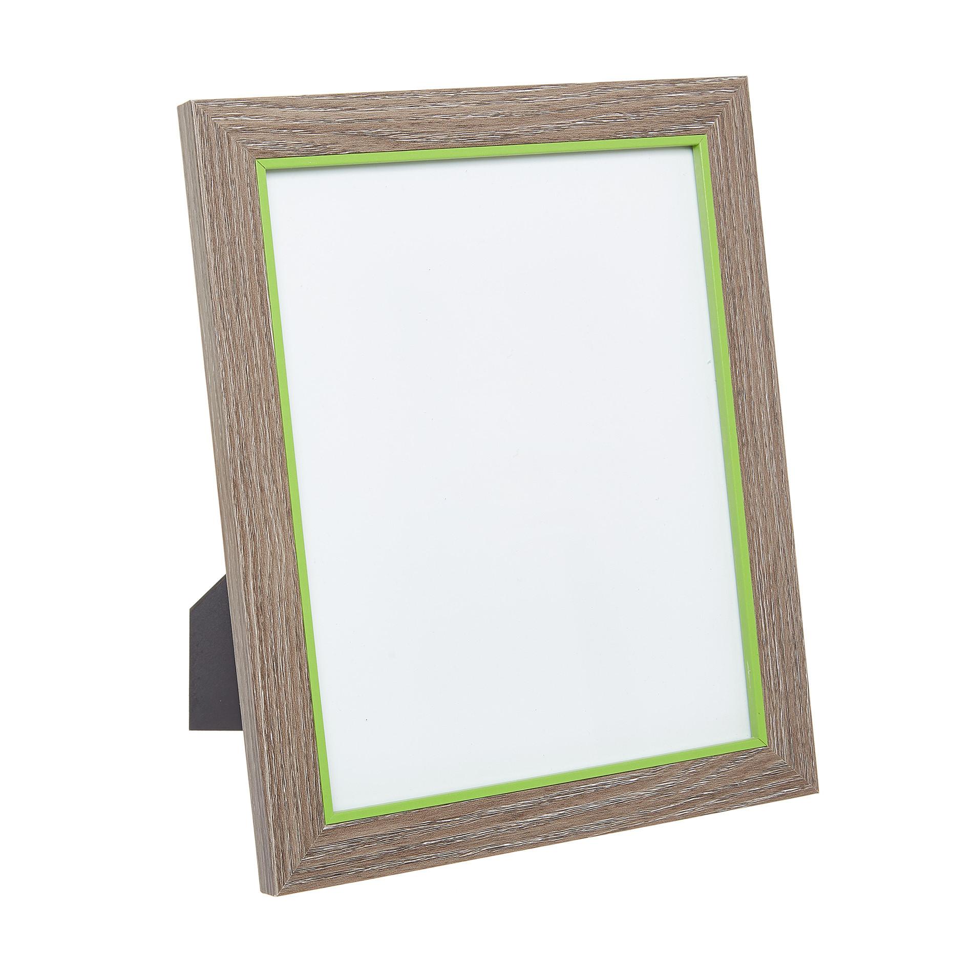 Portafoto cornice legno bicolore, Trasparente, large image number 0