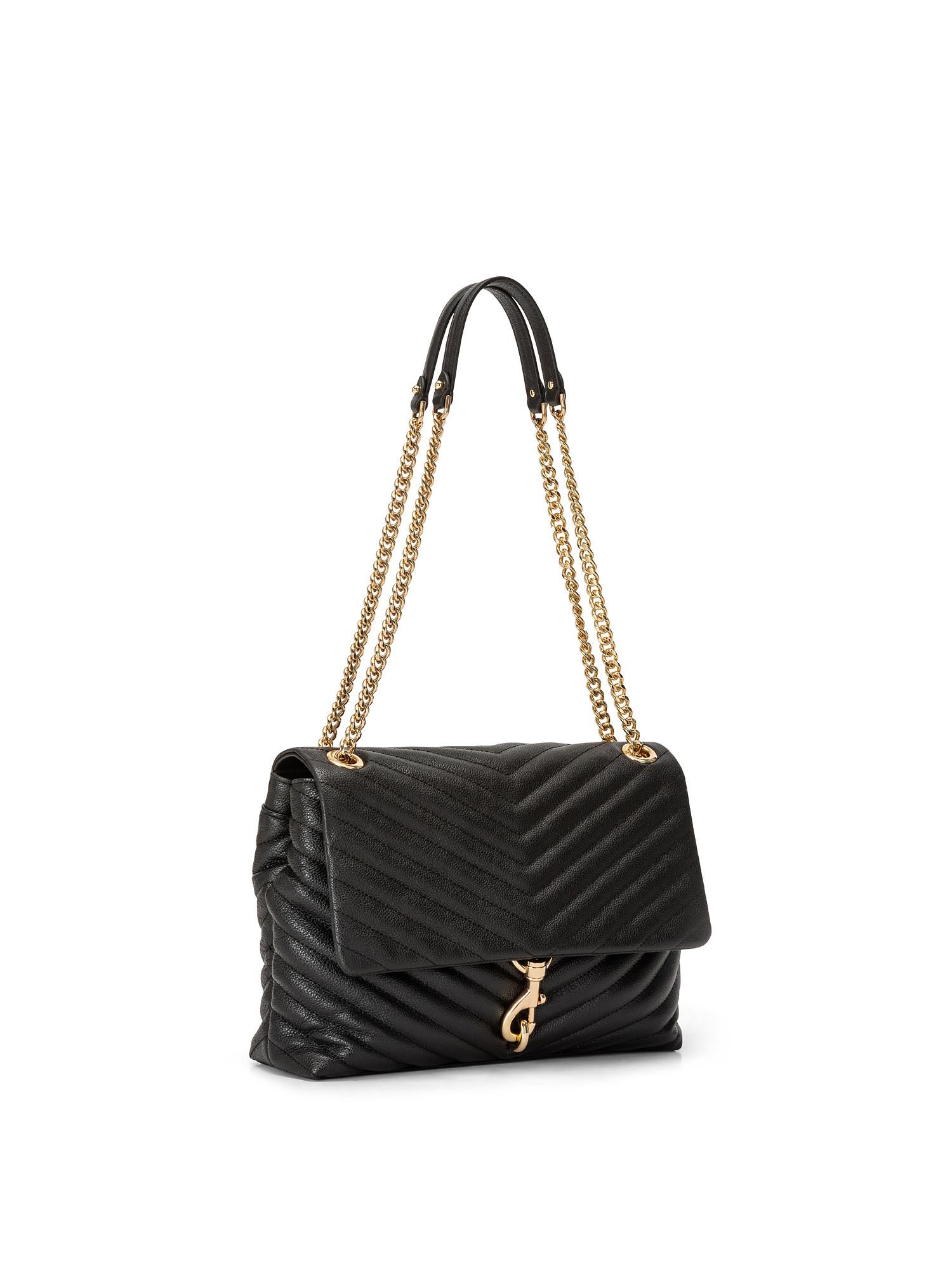 Edie Flap Shoulder Bag, Nero, large image number 1