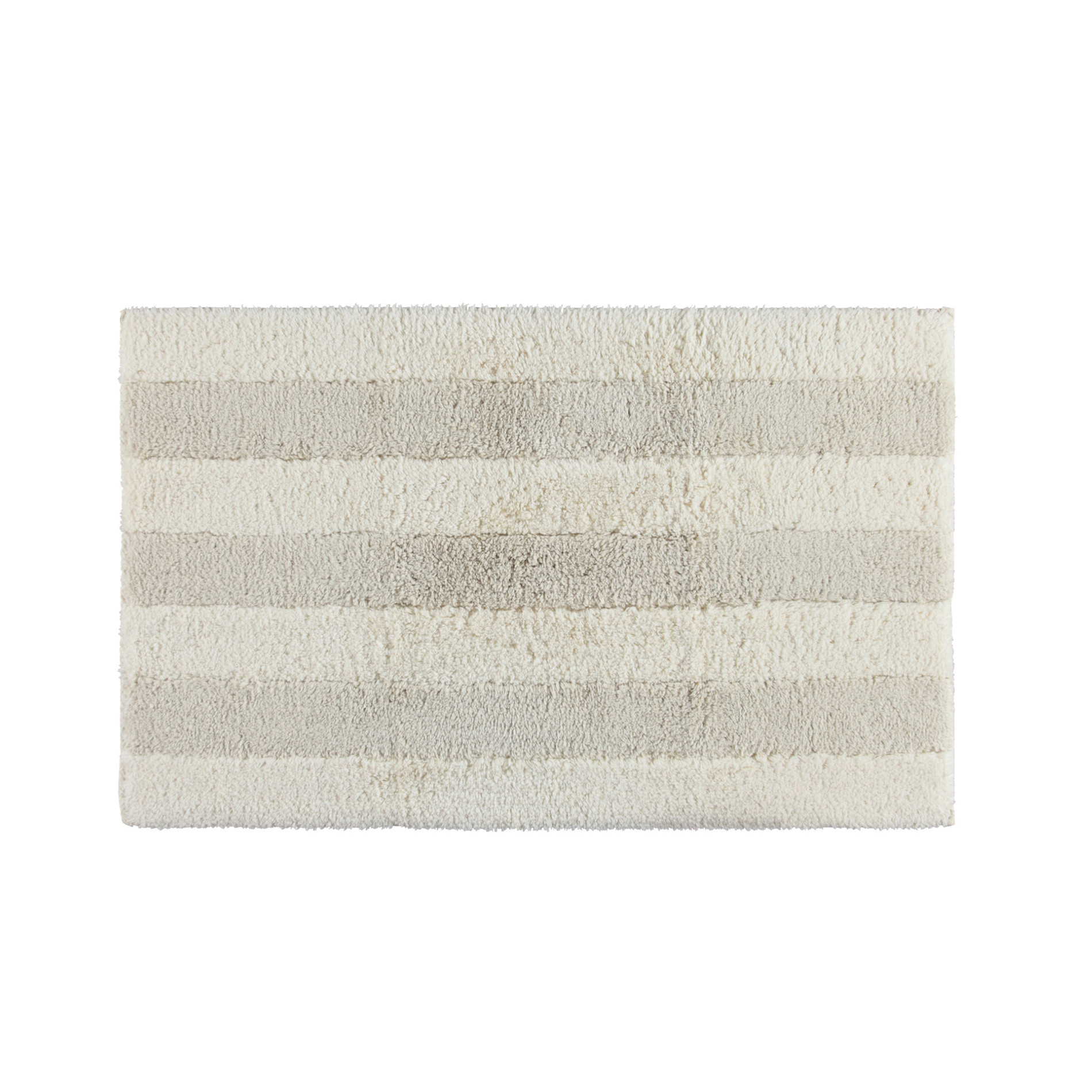 Tappeto bagno in puro cotone Thermae, Bianco/Beige, large image number 0