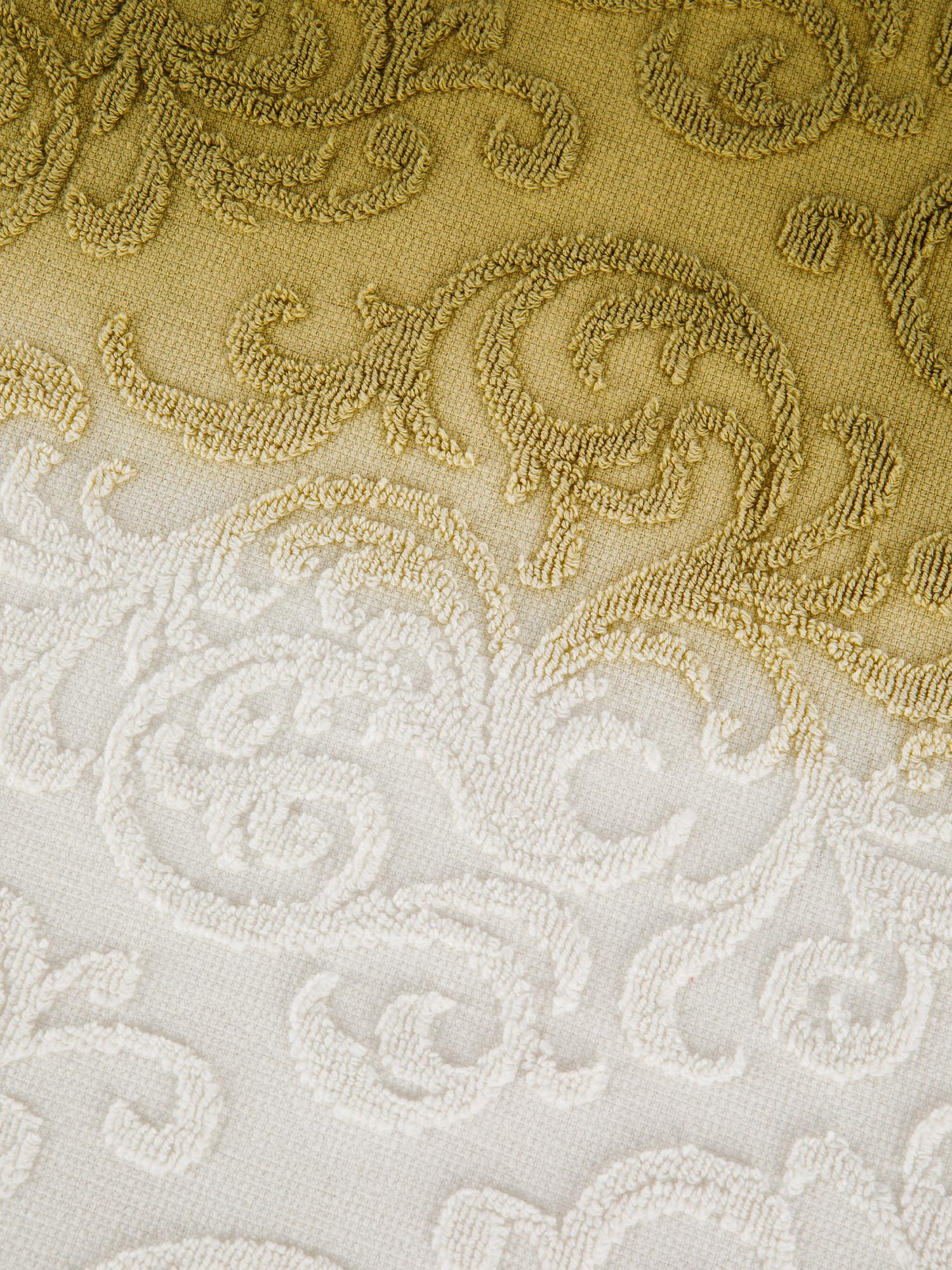 Asciugamano spugna di cotone dip dye, Verde, large image number 3