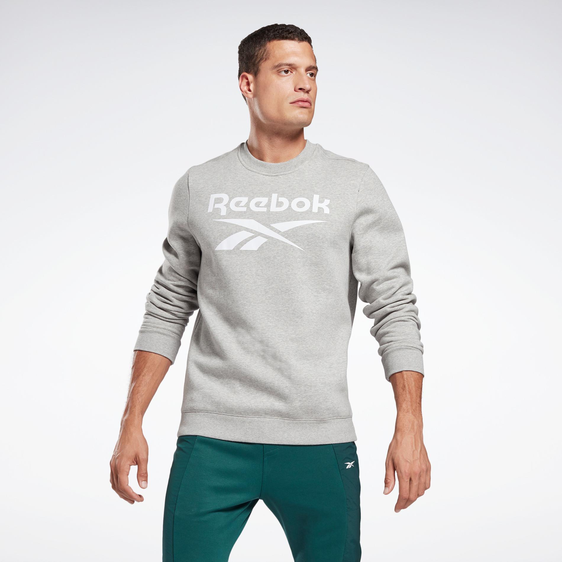 Felpa girocollo Reebok identity fleece, Grigio, large image number 1